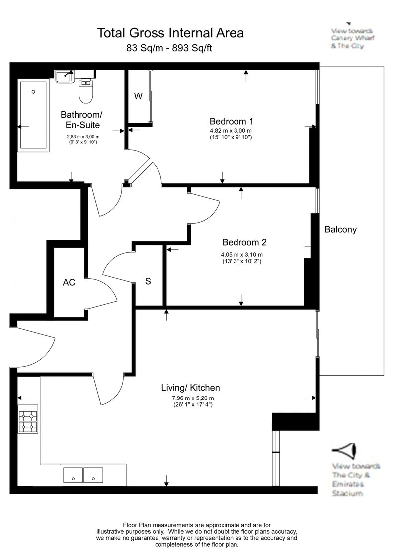 2 bedroom(s) to sale in City North, 3 City North Place, London-Floorplan