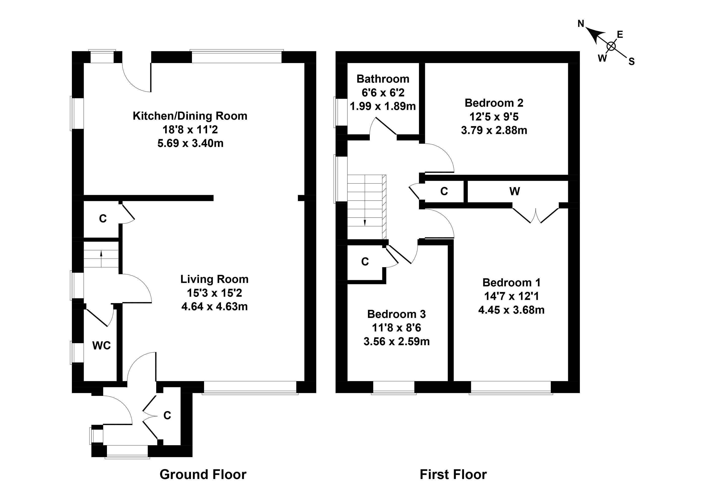 Floorplan 1 of 129 Baberton Mains Drive, Edinburgh, EH14 3EA