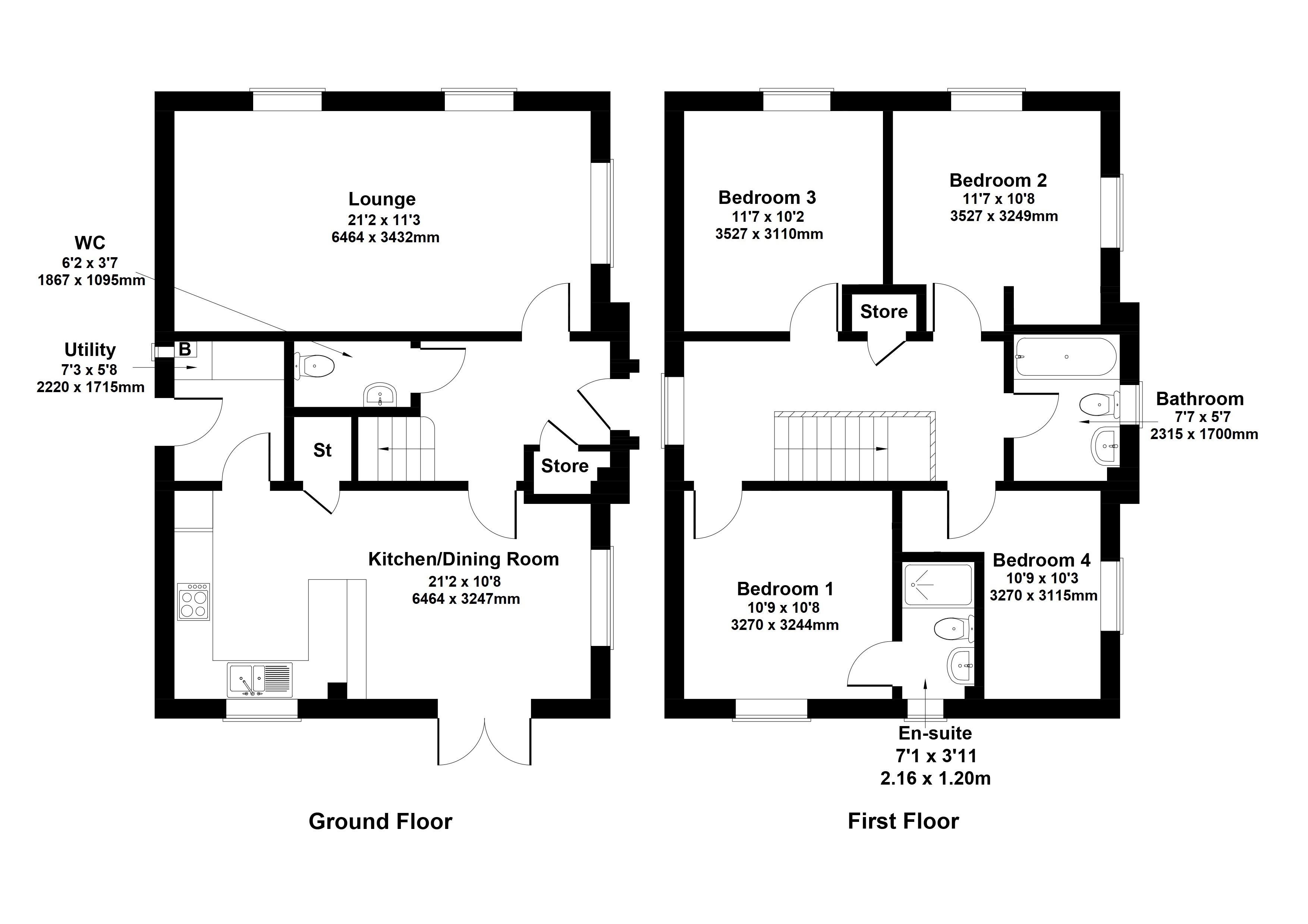 Floorplan 1 of Barratt Homes West Scotland The Craigston, Kintore Road, Newlands, Glasgow, G43 2EY