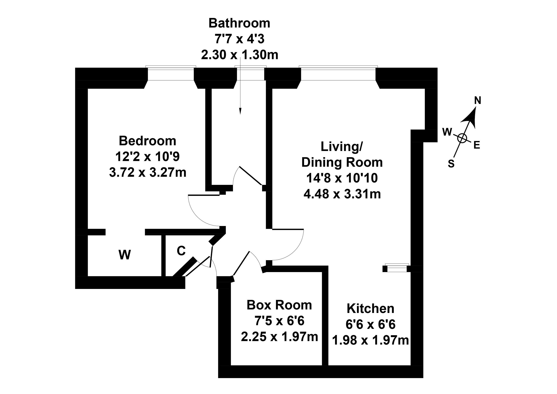 Floorplan 1 of 46/6, Broughton Road, Broughton, Edinburgh, EH7 4EE