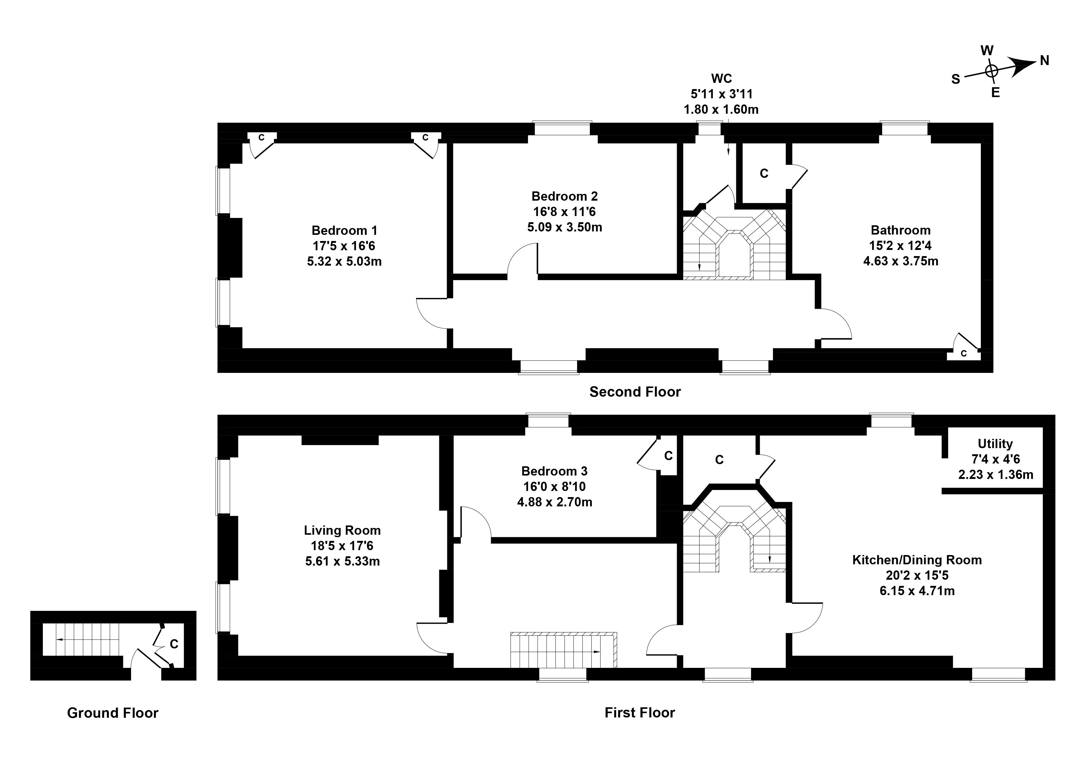 Floorplan 1 of 89 High Street, Dalkeith, Midlothian, EH22 1JA