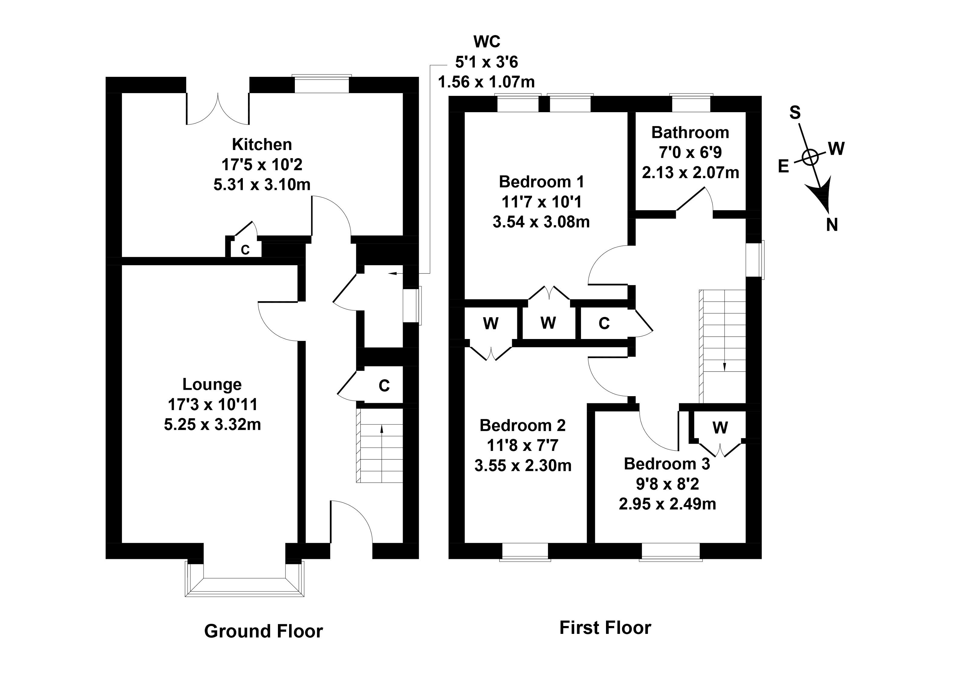 Floorplan 1 of 8 Clark Street, Johnstone, Renfrewshire, PA5 8AT