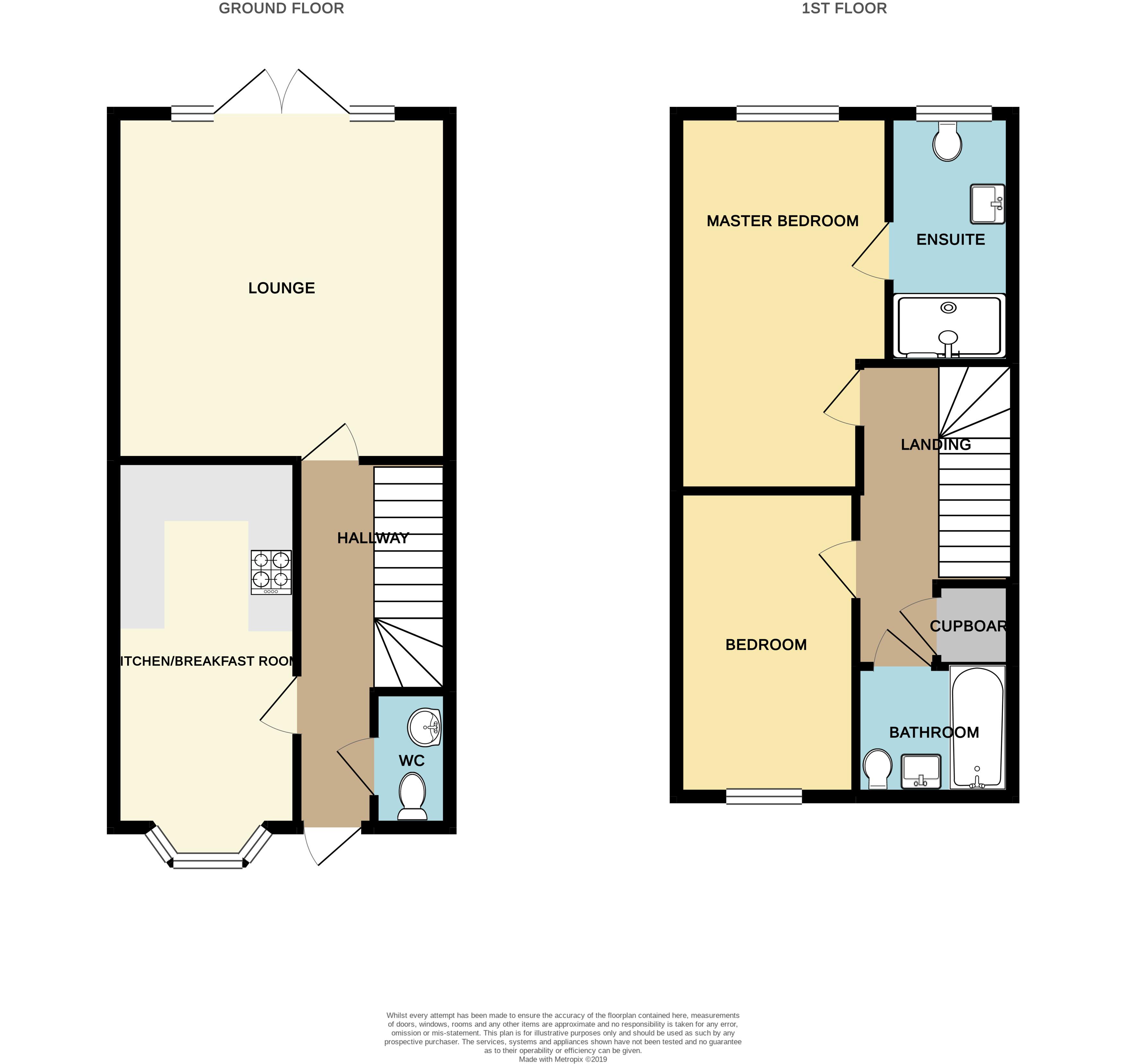 Floorplan for Boundary Close, Kingswood Village .