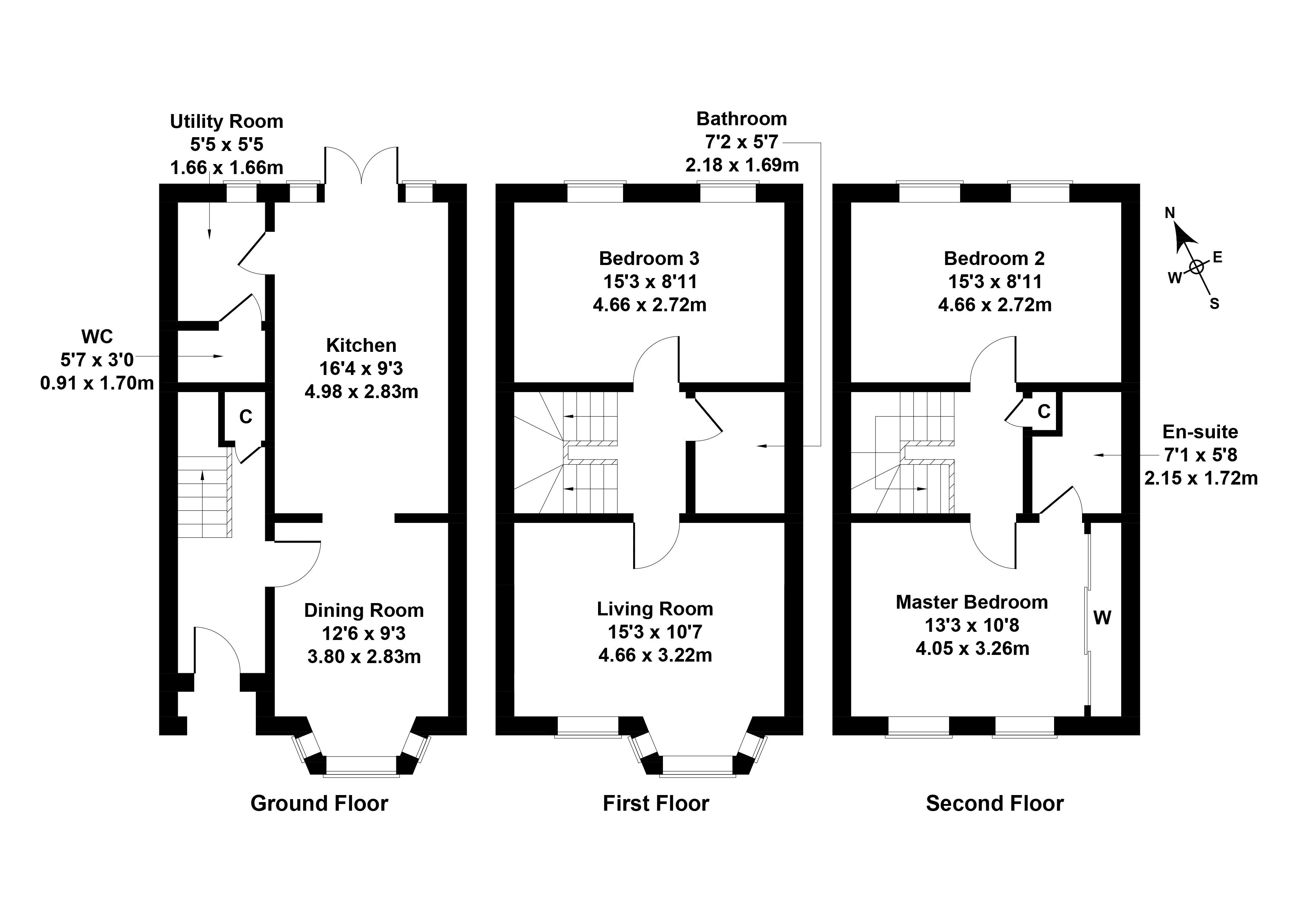 Floorplan 1 of 18 Brown Crescent, Bathgate, West Lothian, EH48 2XF
