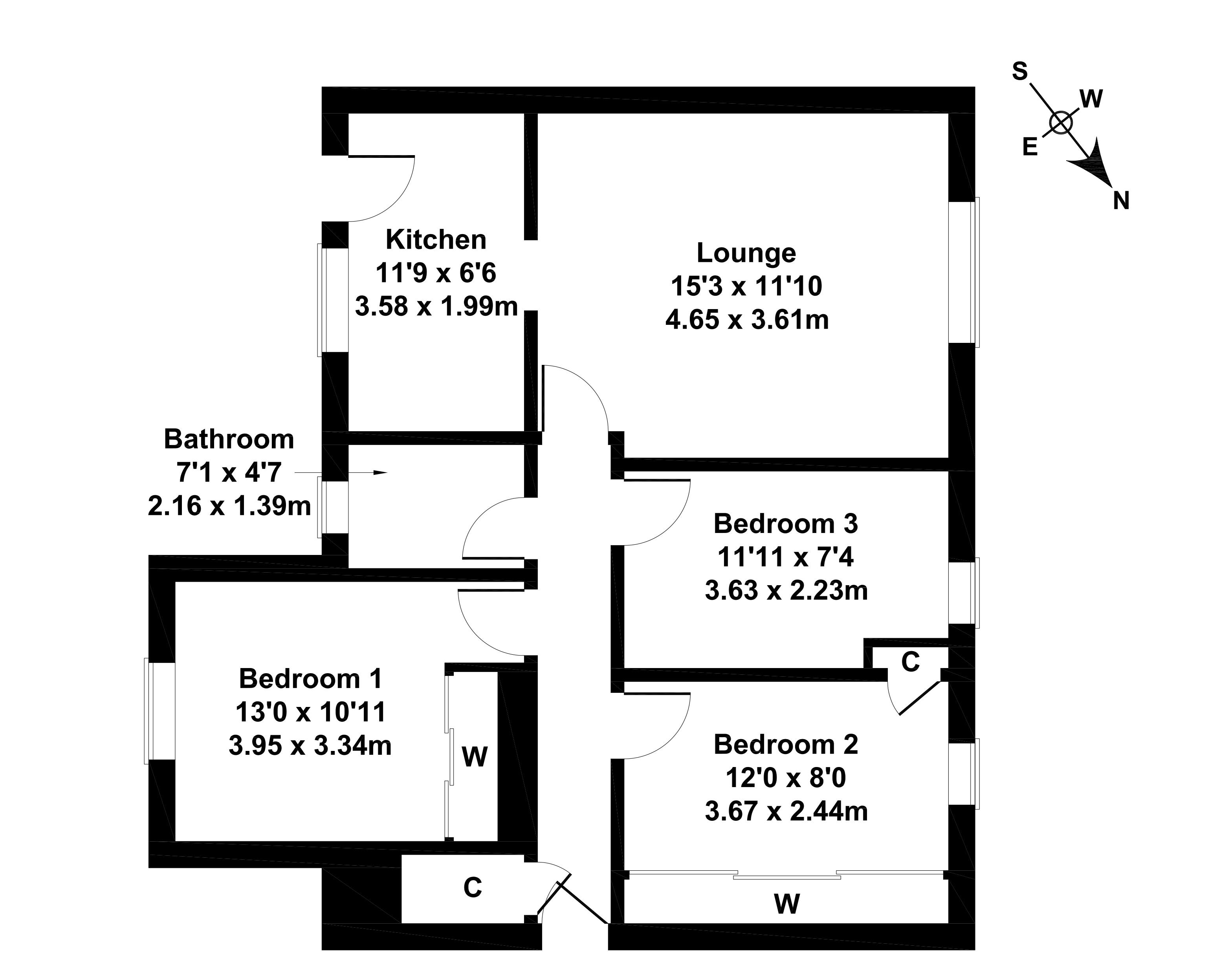 Floorplan 1 of 40 Kelvin Drive, Airdrie, North Lanarkshire, ML6 6HS