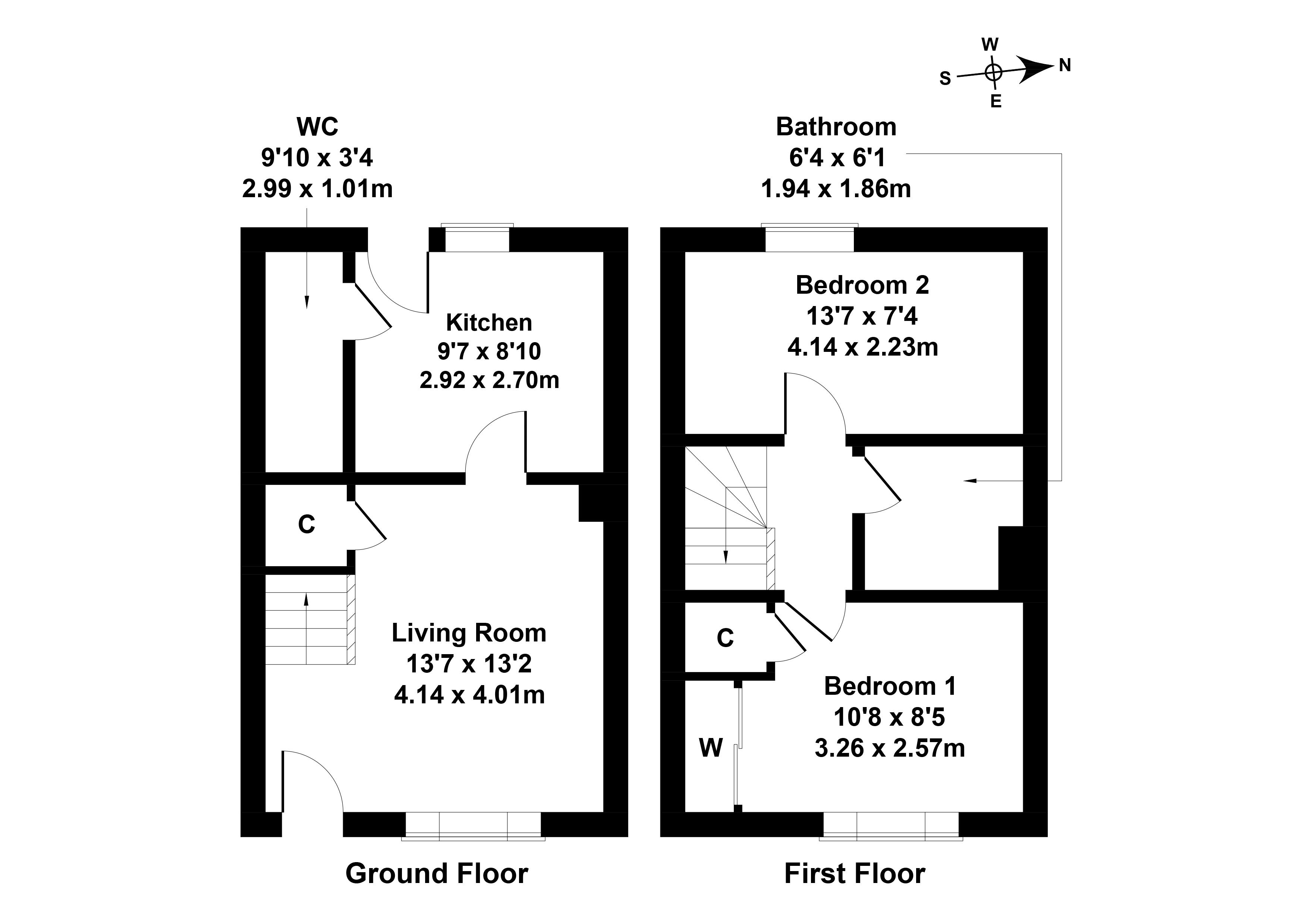 Floorplan 1 of 41 Chuckers Row, Wallyford, Musselburgh, East Lothian, EH21 8JP