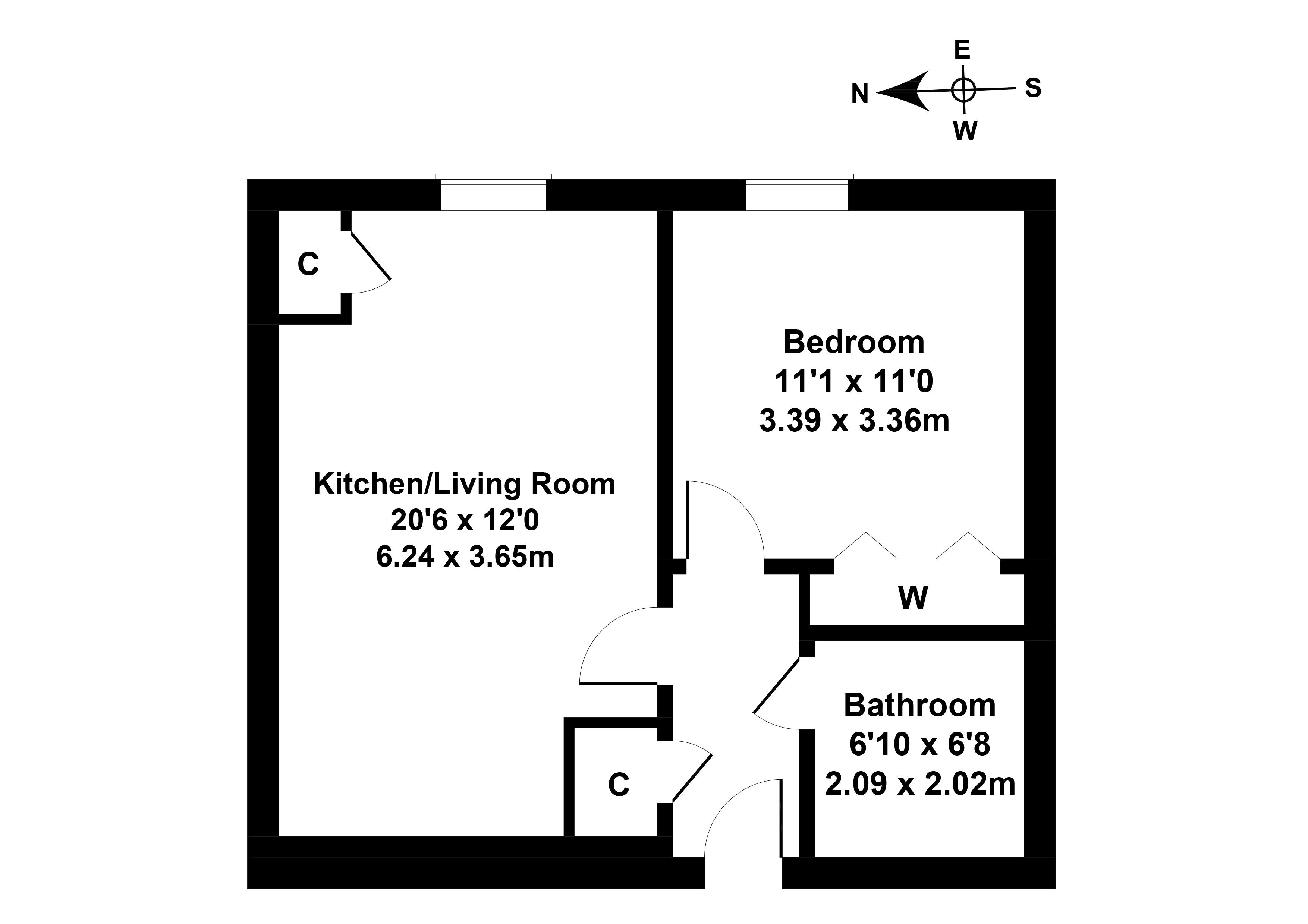 Floorplan 1 of Flat 2, 1 Wintour Lane, Currie, City of Edinburgh, EH14 6AY