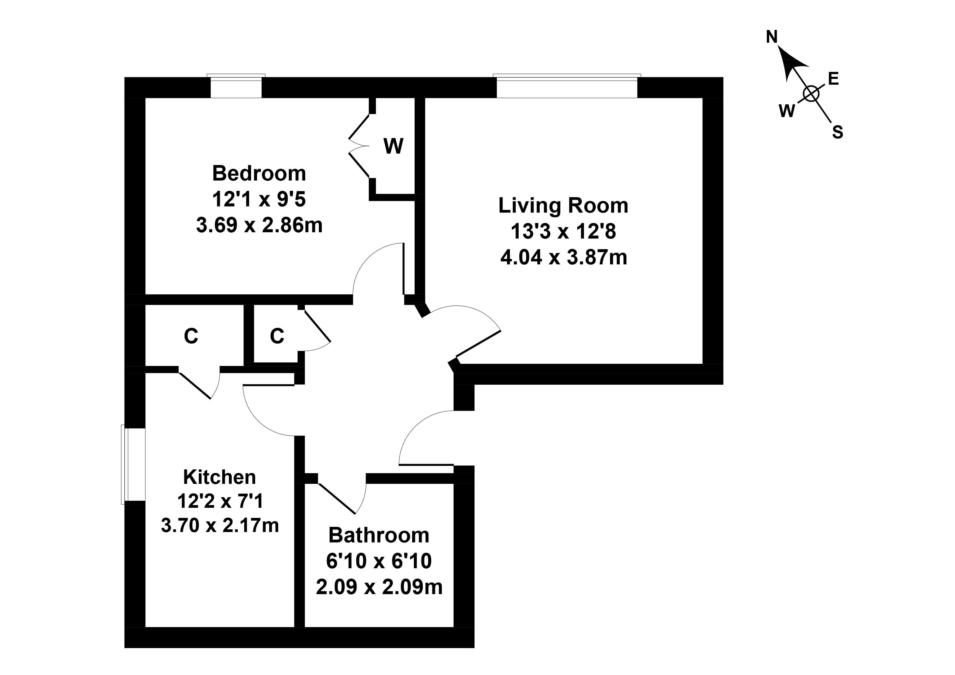 Floorplan 1 of 27c Croft Street, Dalkeith, Midlothian, EH22 3BA