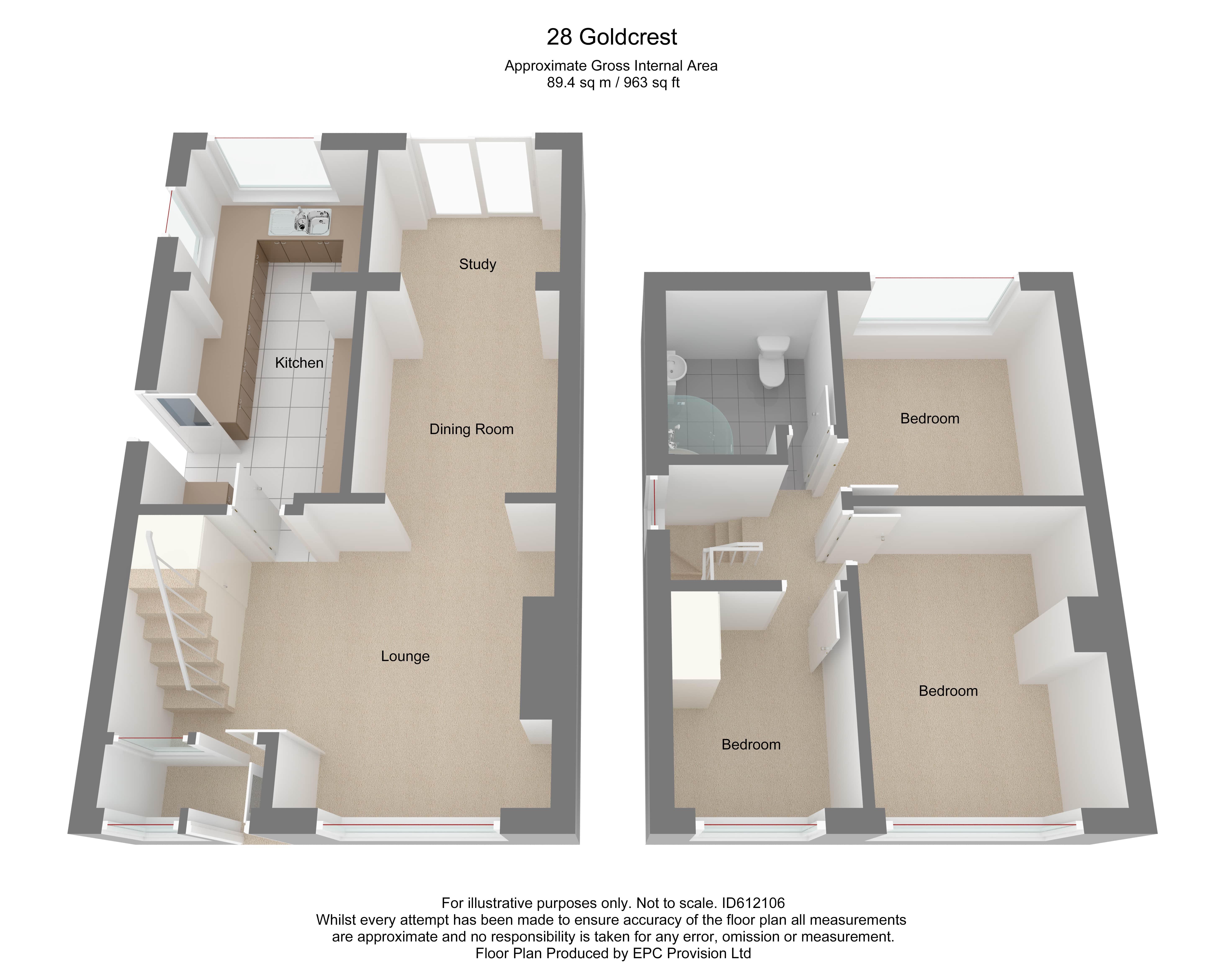 Floorplan for Goldcrest Road, Chipping Sodbury.