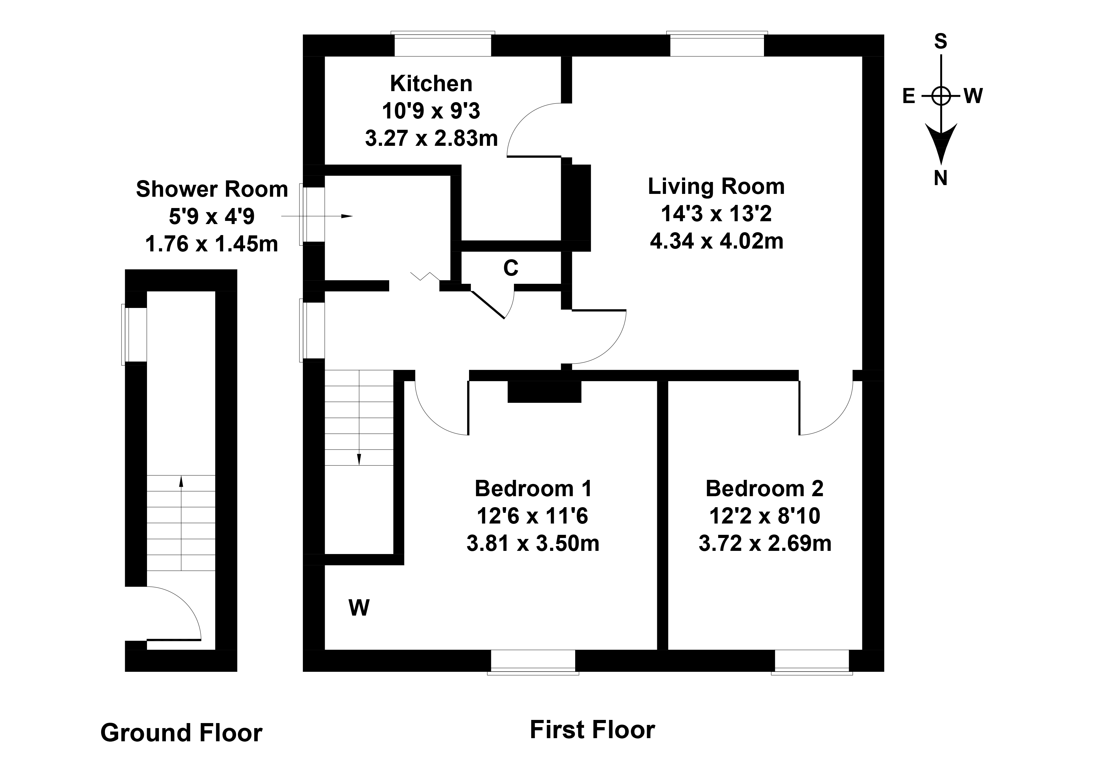 Floorplan 1 of 15 Carlops Road, Penicuik, Midlothian, EH26 0EY