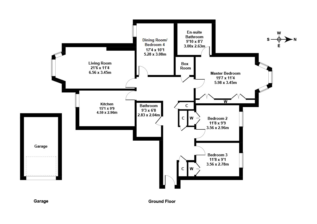 Floorplan 1 of Flat 3, 8 Rattray Drive, Greenbank, Edinburgh, EH10 5TH