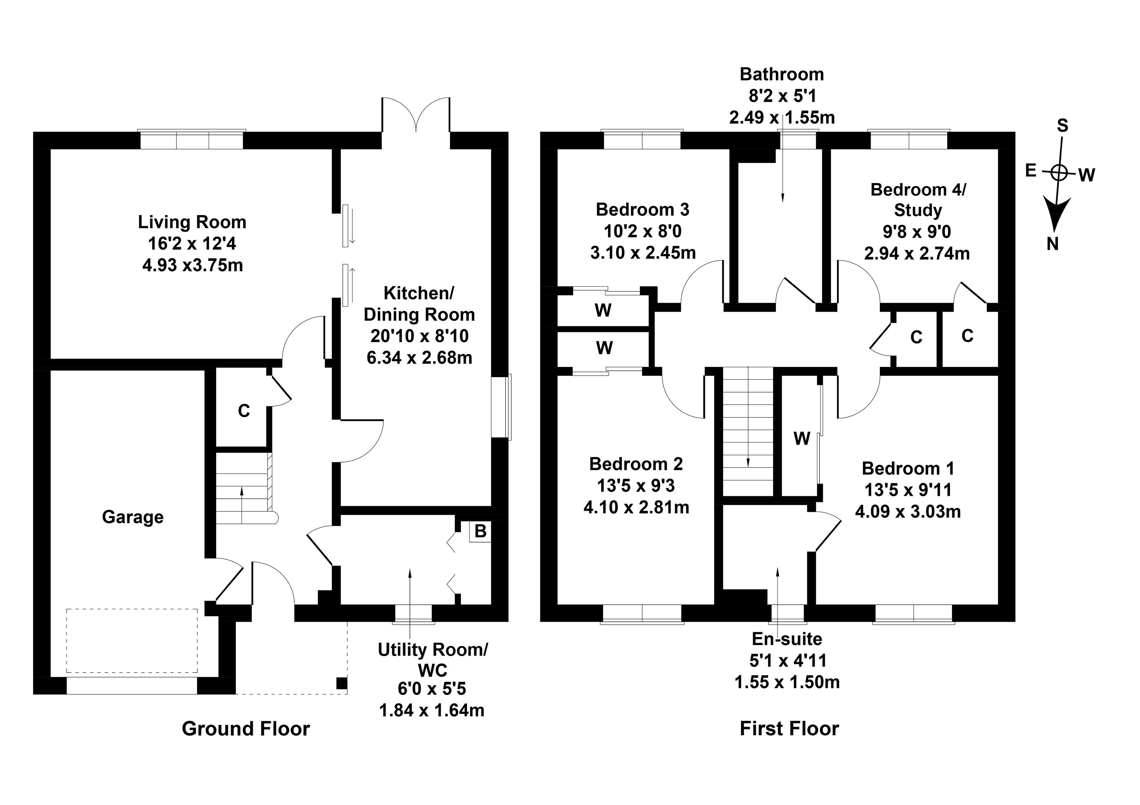 Floorplan 1 of 12 Thorny Crook Crescent, Dalkeith, Midlothian, EH22 2RJ