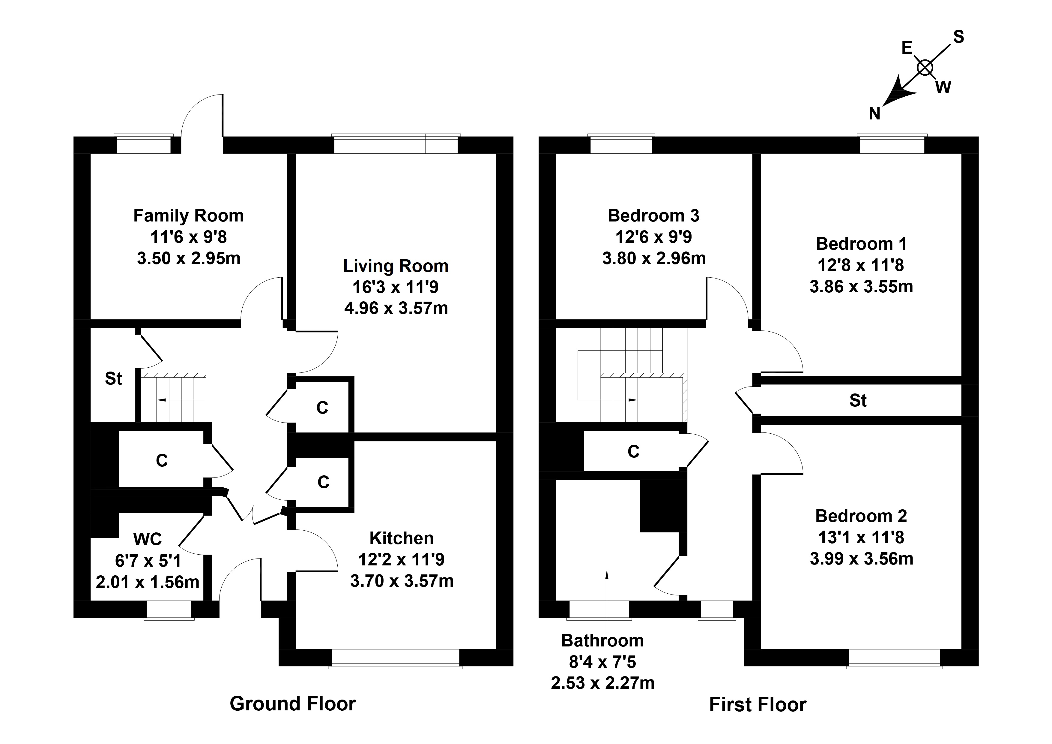 Floorplan 1 of 98 Larch Drive, East Kilbride, Glasgow, South Lanarkshire, G75 9HG