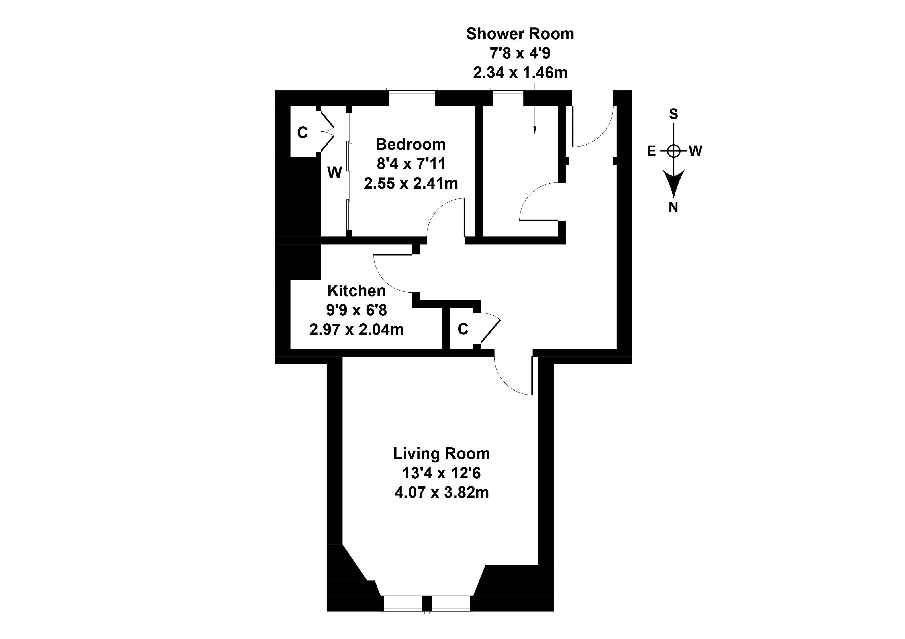 Floorplan 1 of  32b East Main Street, Broxburn, West Lothian, EH52 5AE