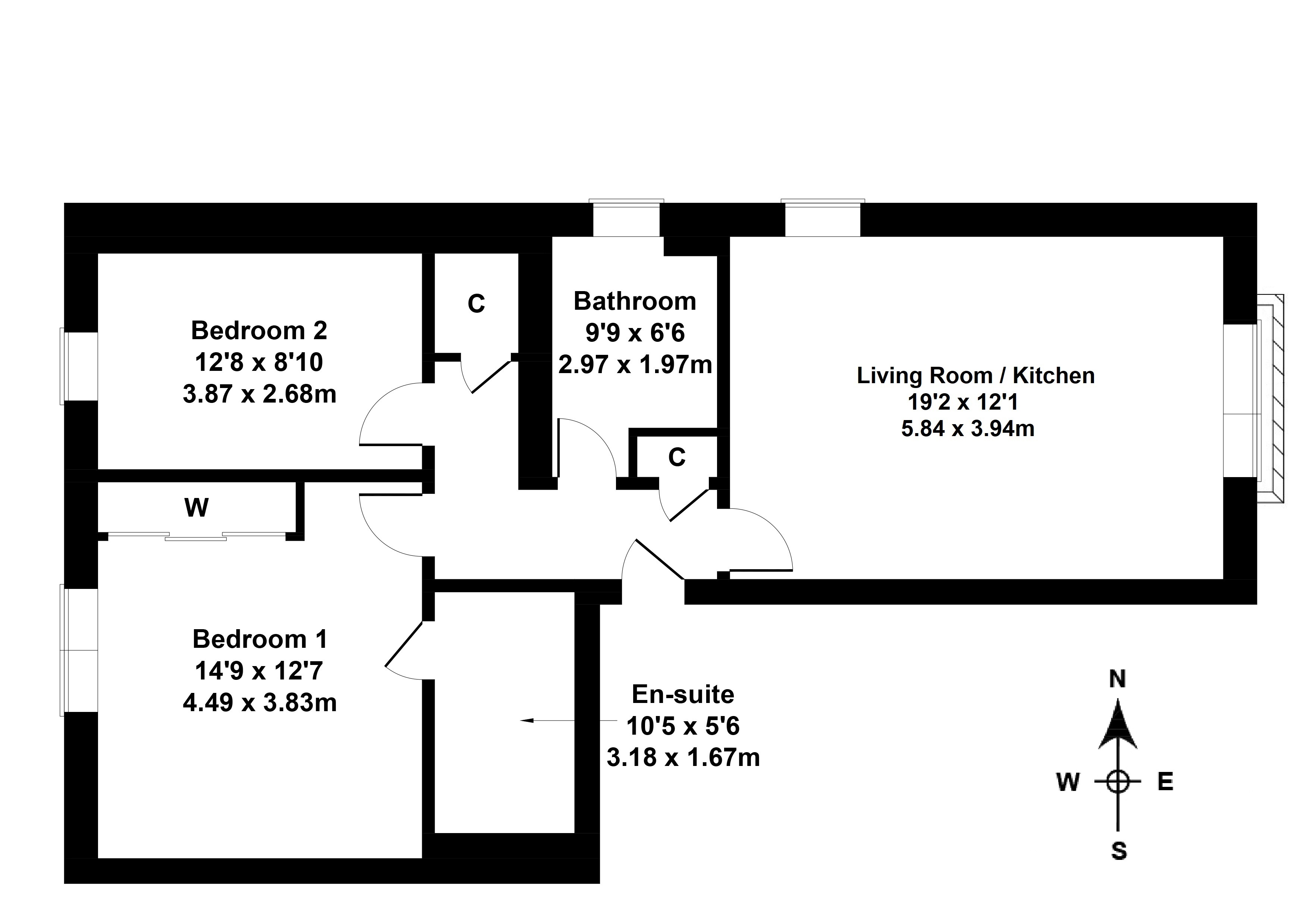 Floorplan 1 of 1/1, 16c Carmyle Avenue, Tollcross, Glasgow, G32 8HJ