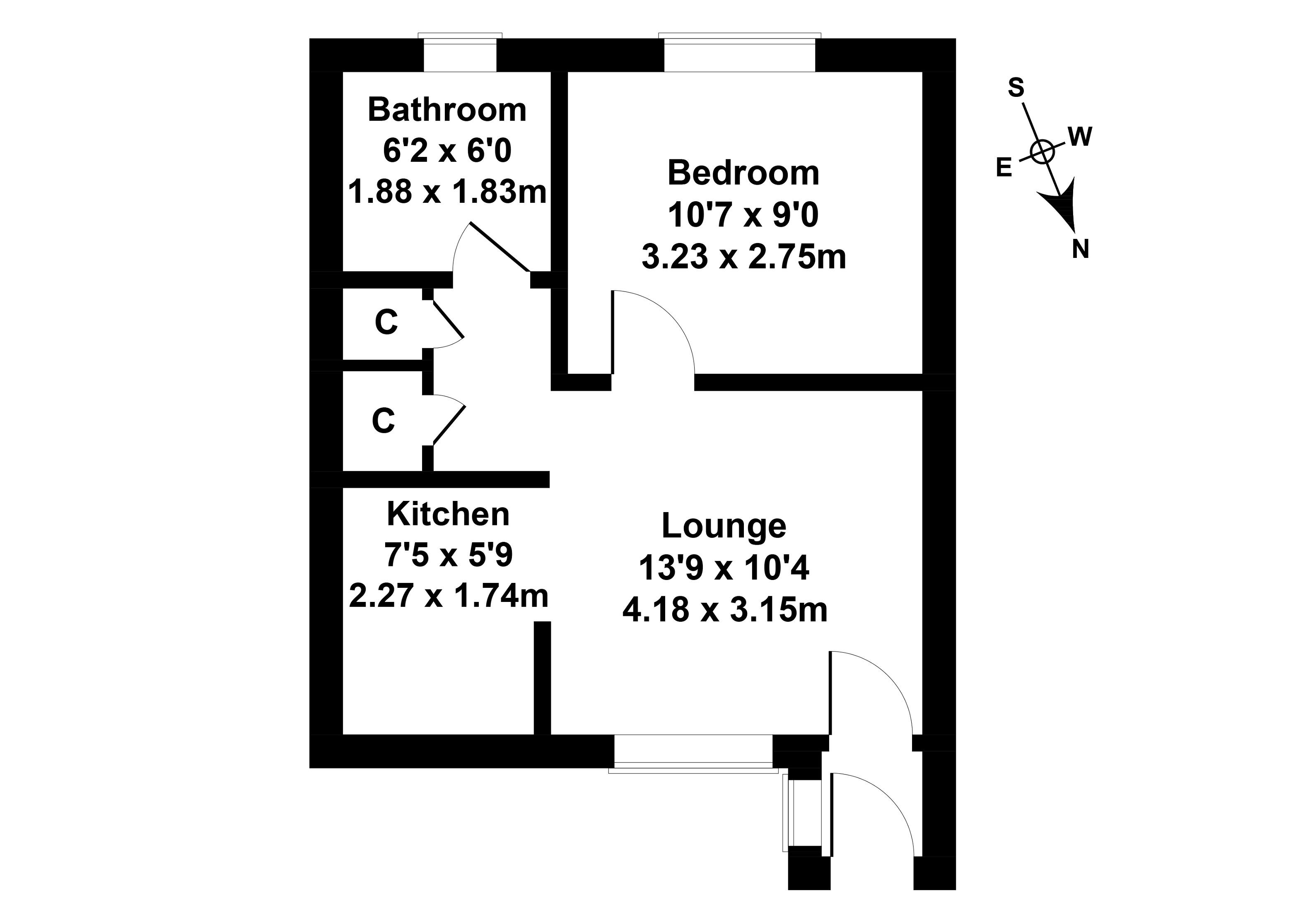 Floorplan 1 of 75 Double Hedges Park, Liberton, Edinburgh, EH16 6YN