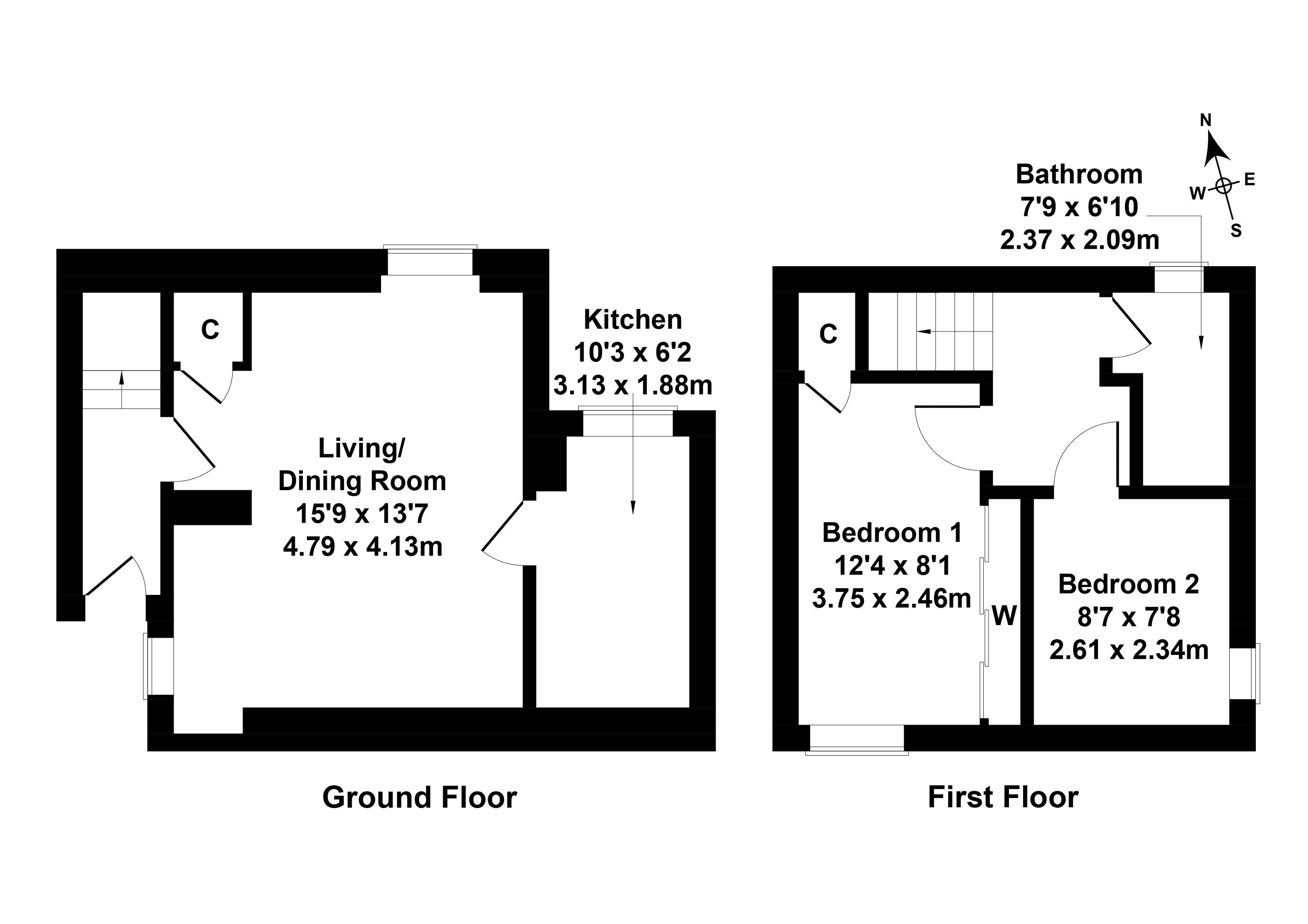 Floorplan 1 of 41 Tower Street, Selkirk, Scottish Borders, TD7 4LR