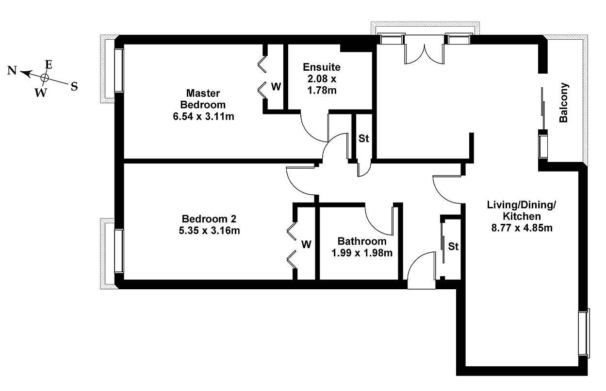 Floorplan 1 of Flat 4, 1 Kimmerghame Drive, Fettes, Edinburgh, EH4 2GJ