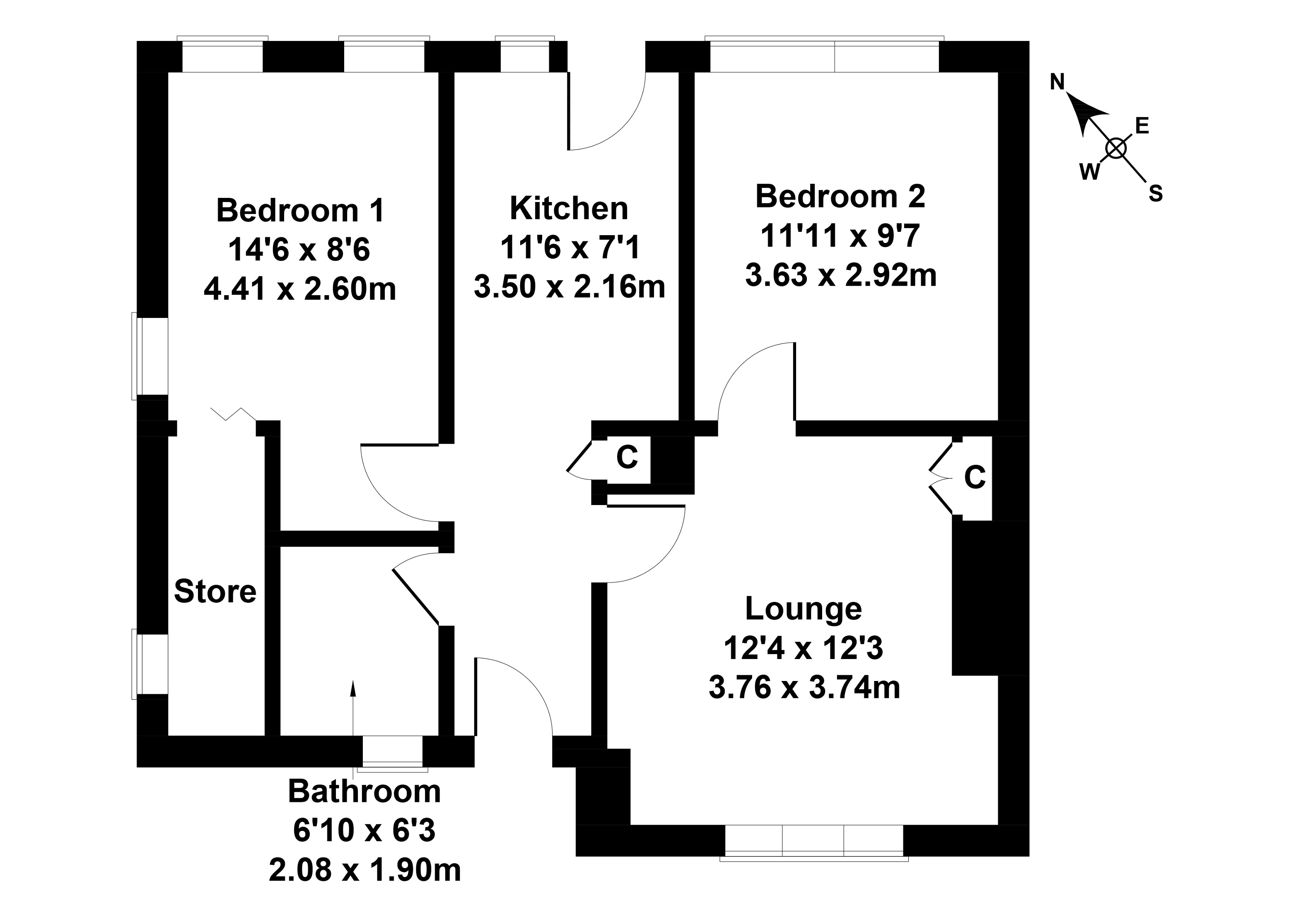 Floorplan 1 of 30 Low Crescent, Clydebank, West Dunbartonshire, G81 1AF