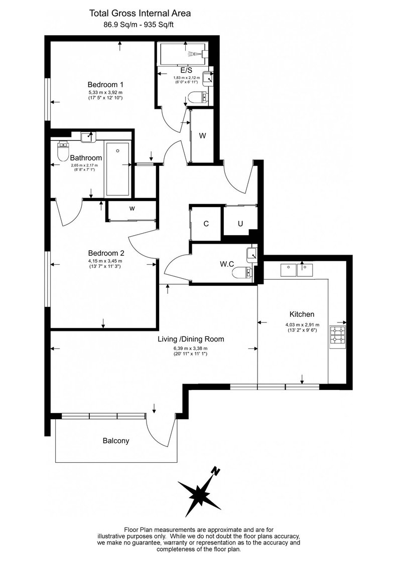 2 bedroom(s) apartment to sale in Lincoln Building, White City Living, White City-Floorplan