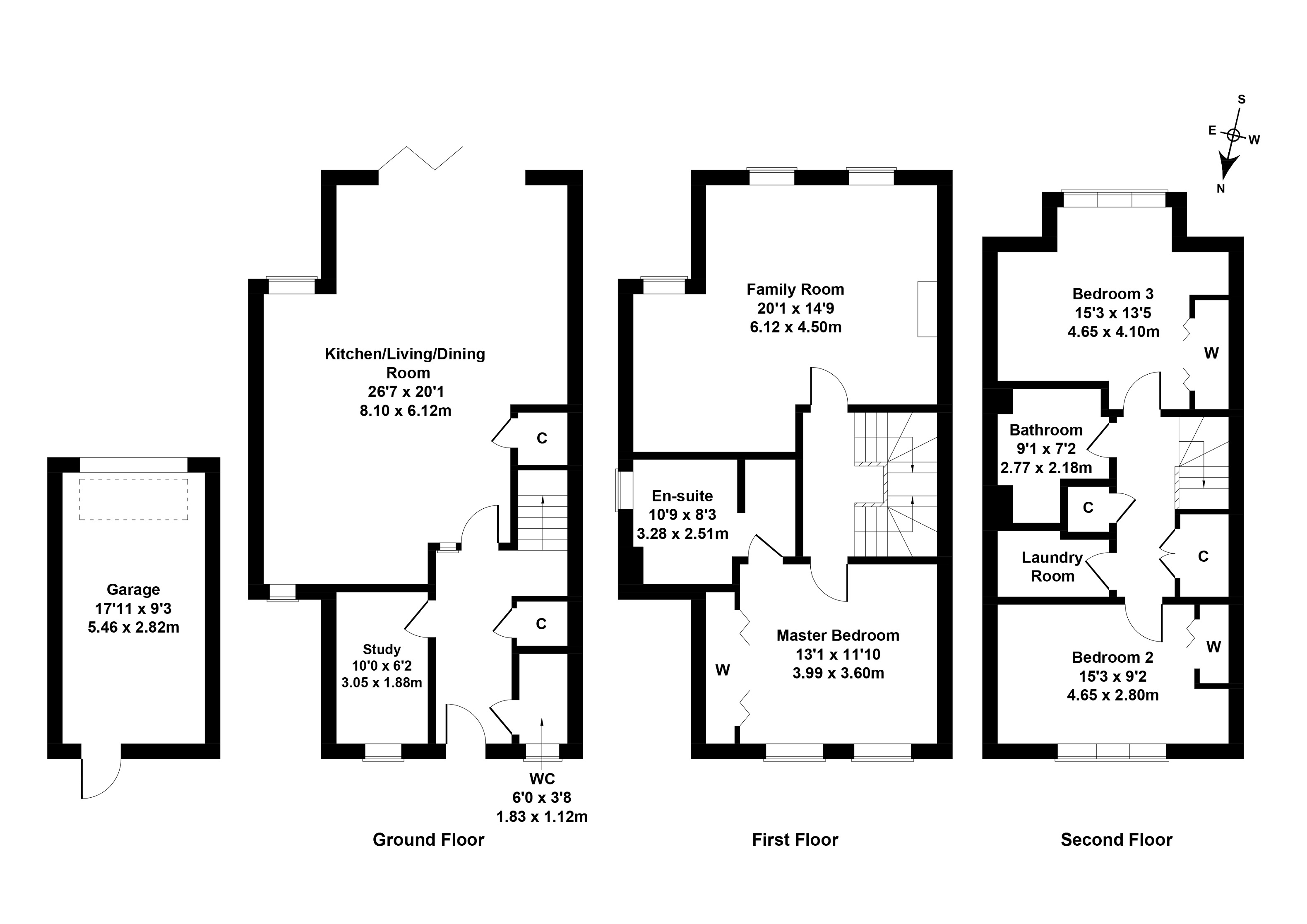 Floorplan 1 of 14 Wintour Lane, Currie, City of Edinburgh, EH14 6AY