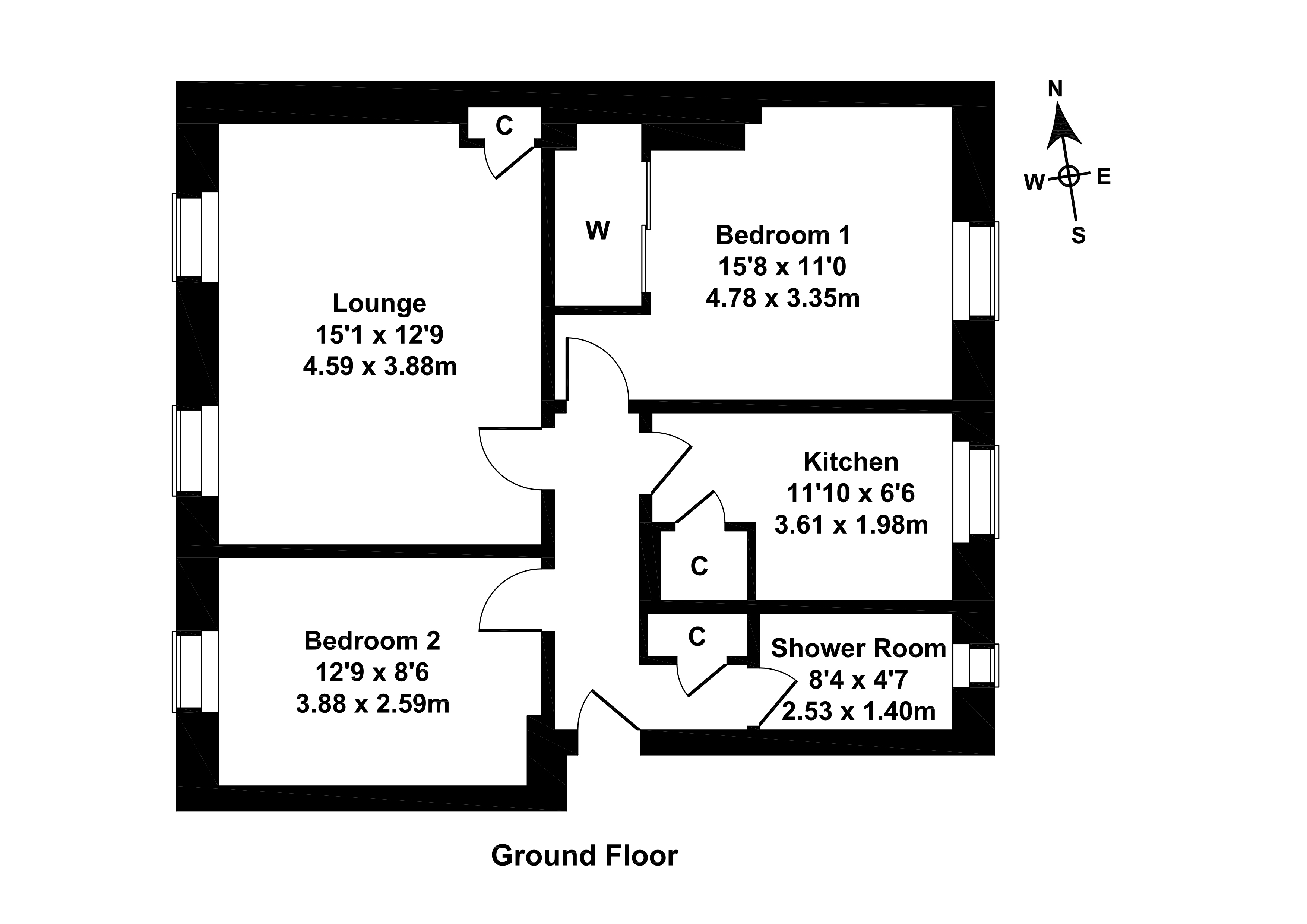 Floorplan 1 of 4/1, West Pilton Grove, Edinburgh, EH4 4BU