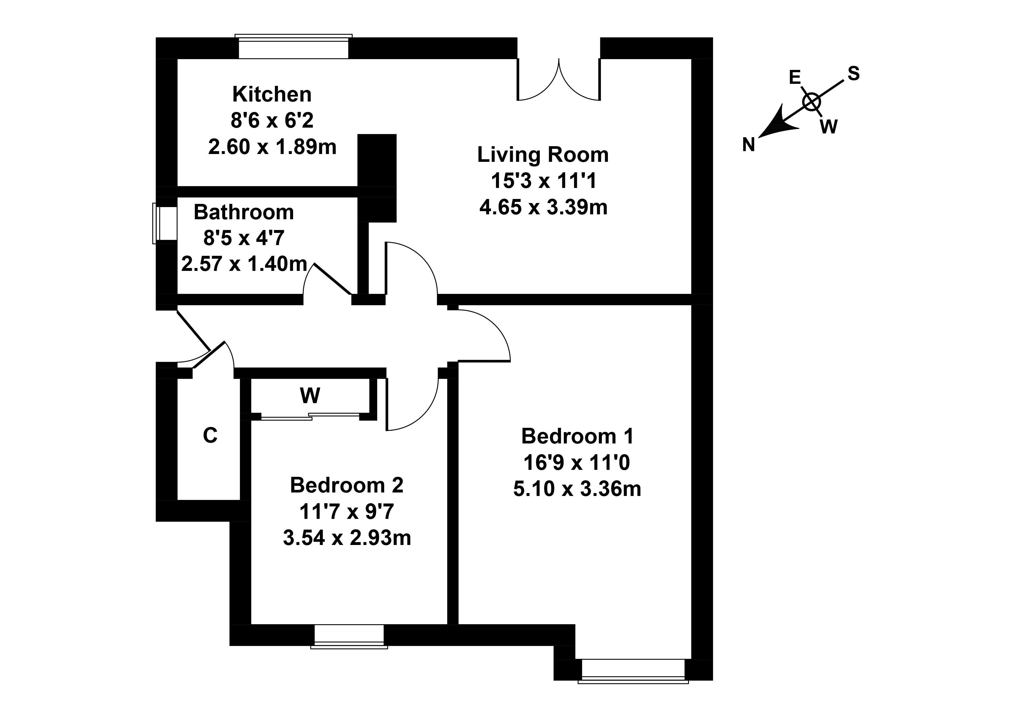 Floorplan 1 of 45 Pilton Drive, Edinburgh, EH5 2HH