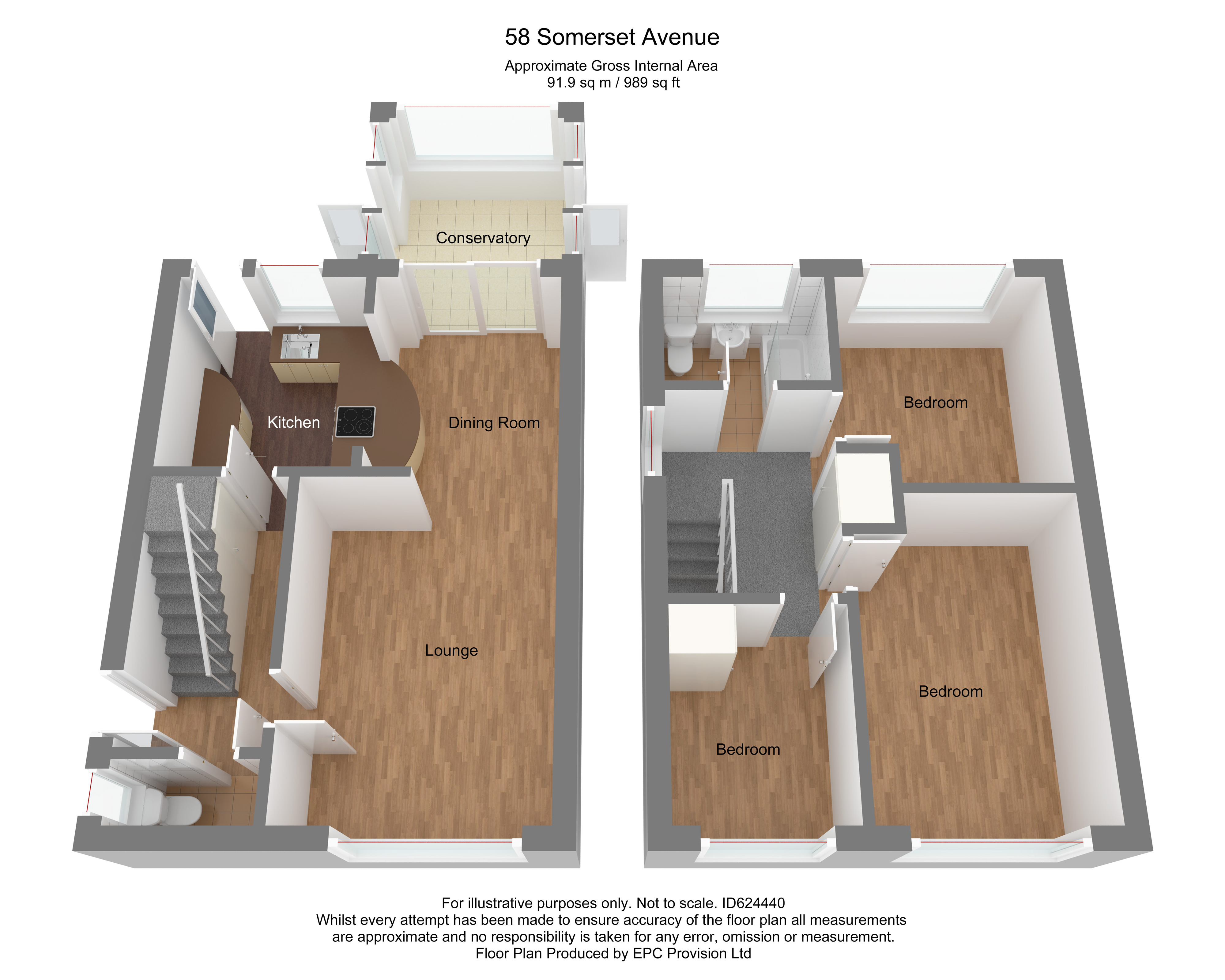Floorplan for Somerset Avenue, Yate.
