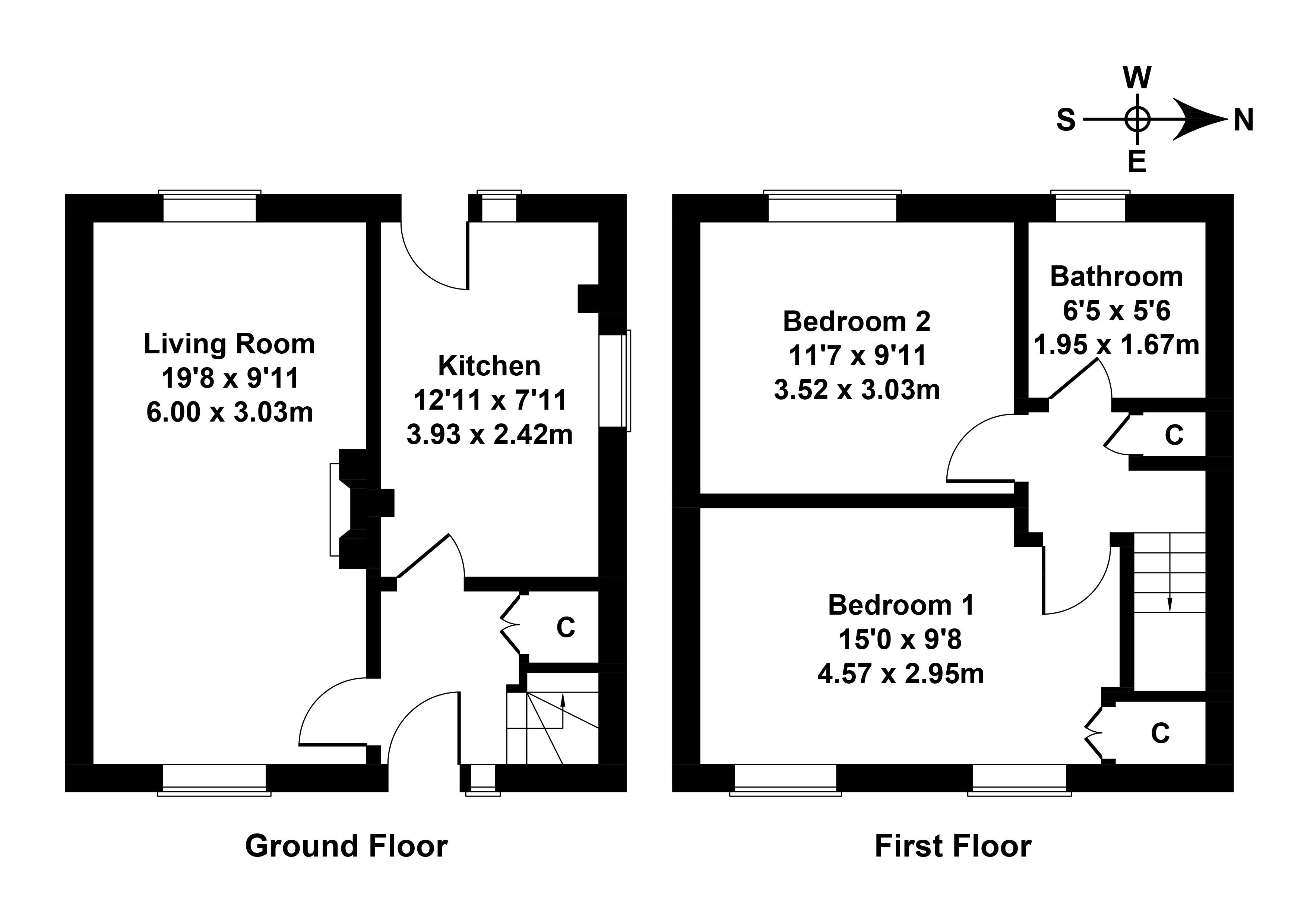 Floorplan 1 of 55 Arthur View Terrace, Danderhall, Dalkeith, Midlothian, EH22 1NS