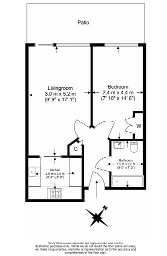 1 bedroom(s) apartment to sale in Croft House, Heritage Avenue, Beaufort Park, Colindale-Floorplan