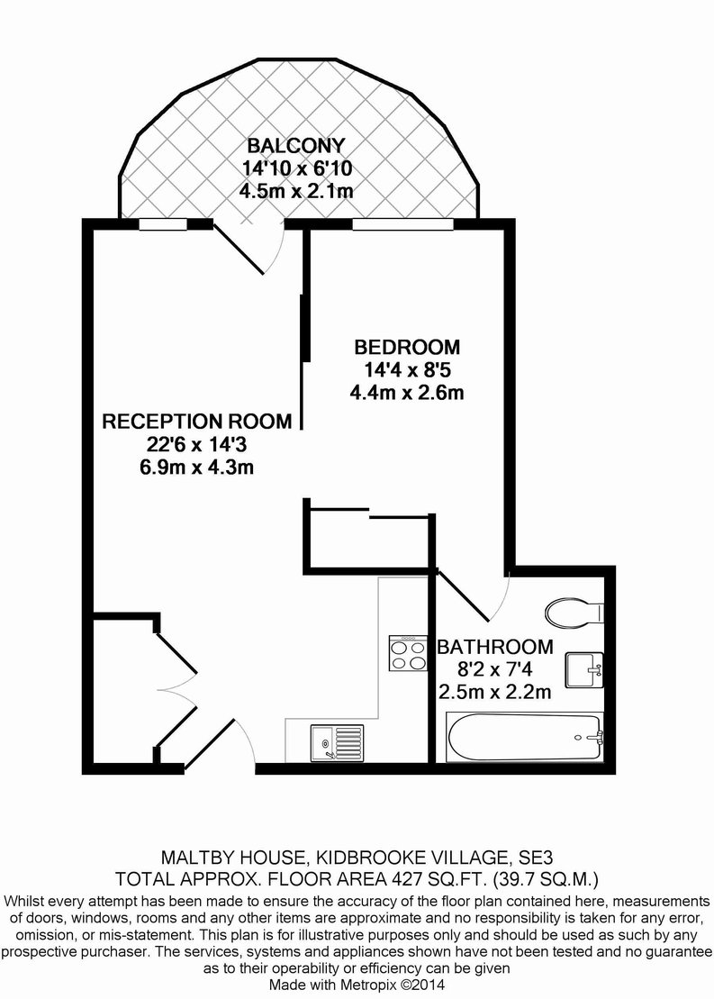 1 bedroom(s) apartment to sale in Maltby House, Ottley Drive, Kidbrooke Village-Floorplan