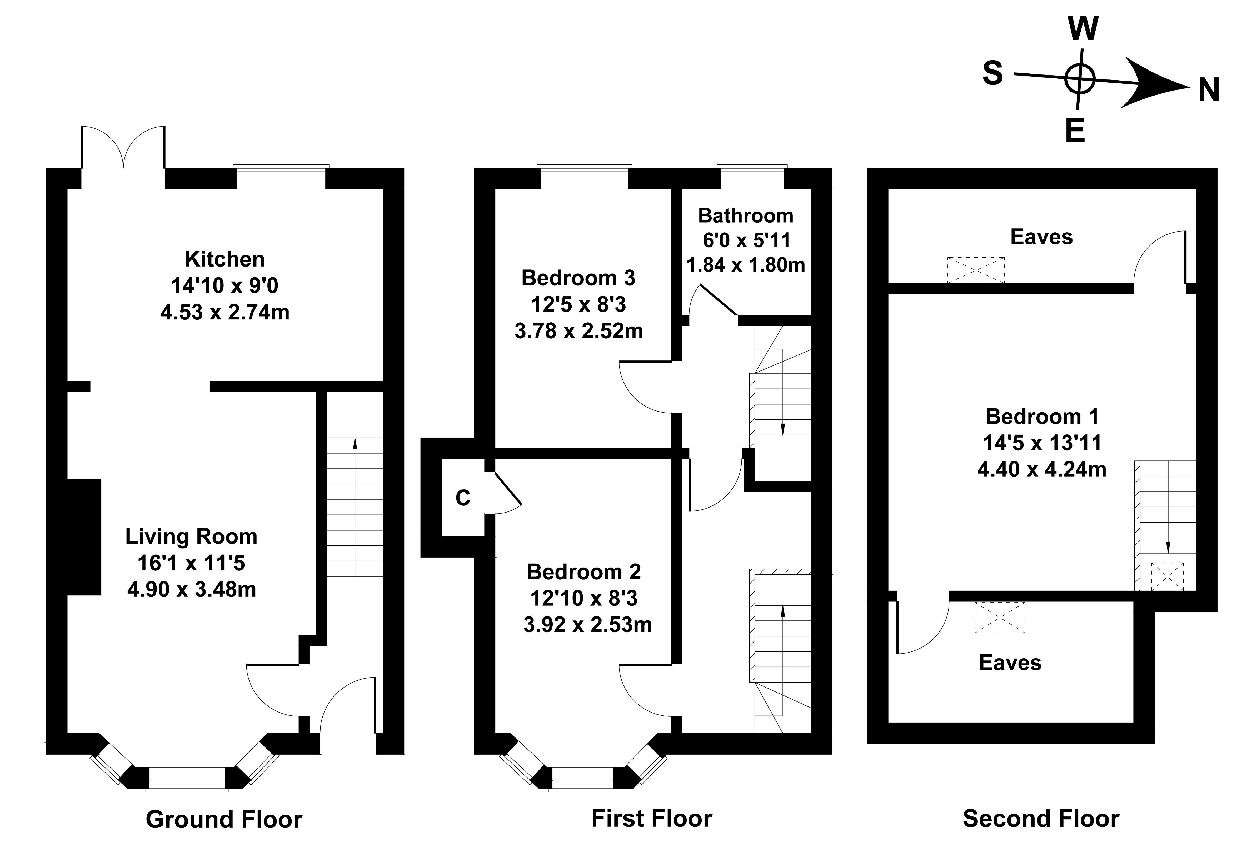 Floorplan 1 of  43 Claremont Bank, Edinburgh, EH7 4DR