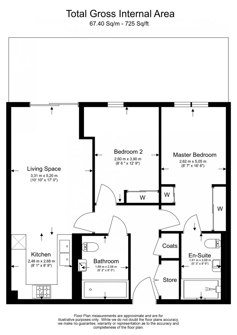 2 bedroom(s) apartment to sale in Pinnacle Apartments 11 Saffron Central Square, London, Croydon-Floorplan