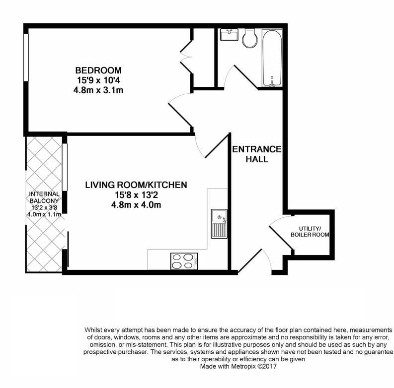 1 bedroom(s) apartment to sale in Westminster Bridge Road, Lambeth, London-Floorplan