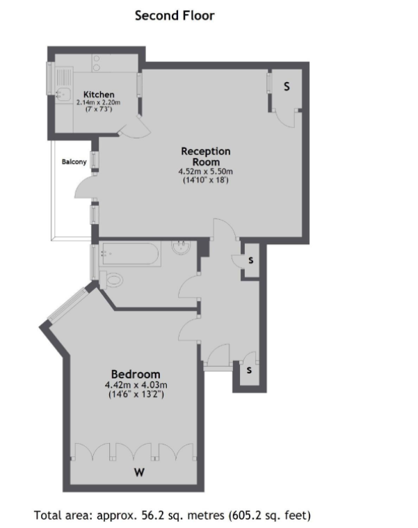 1 bedroom(s) apartment to sale in Grove Court, Grove End Road, St John's Wood, London-Floorplan