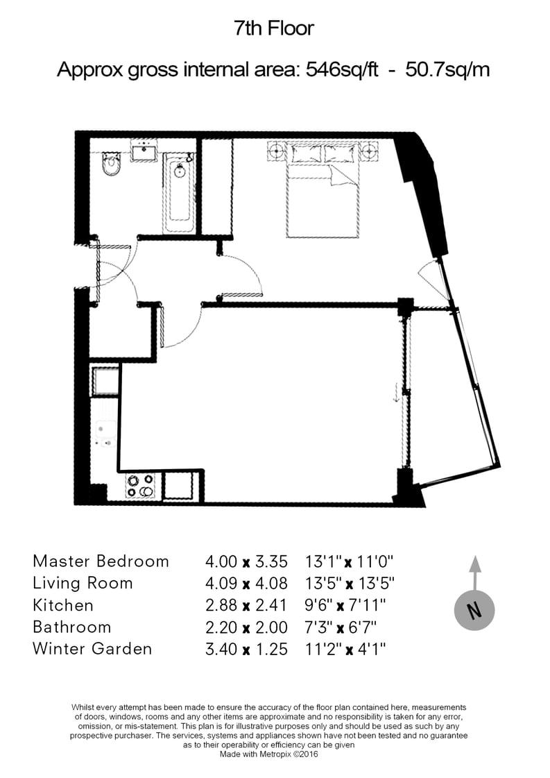 1 bedroom(s) apartment to sale in Onyx House, 98 Camley Street, Kings Cross-Floorplan