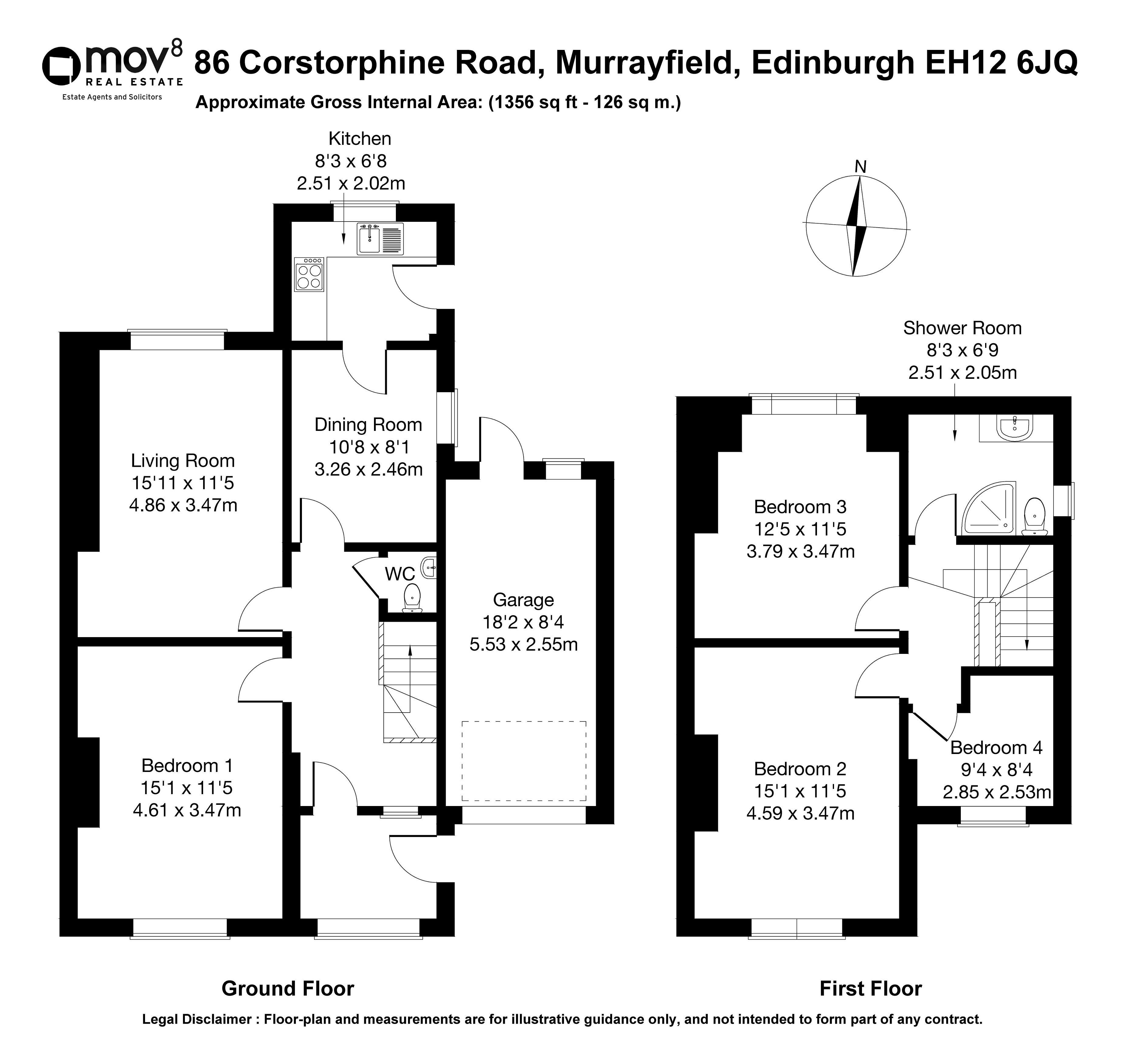 Floorplan 1 of 86 Corstorphine Road, Murrayfield, Edinburgh, EH12 6JQ