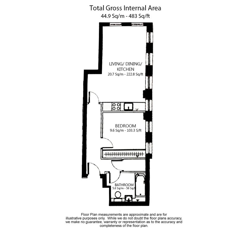 1 bedroom(s) apartment to sale in Embassy Works, 12 Lawn Lane, Vauxhall , London-Floorplan