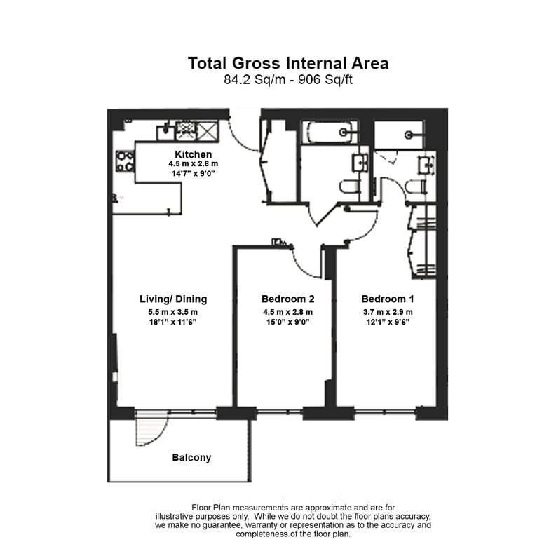 2 bedroom(s) apartment to sale in Olivier House, Filmworks Walk, Ealing-Floorplan