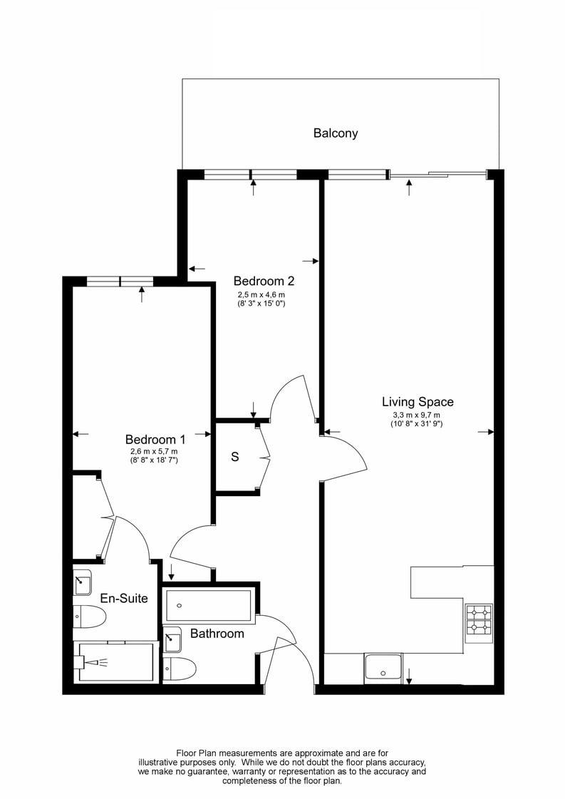 2 bedroom(s) apartment to sale in Boulevard Drive, Colindale, London-Floorplan