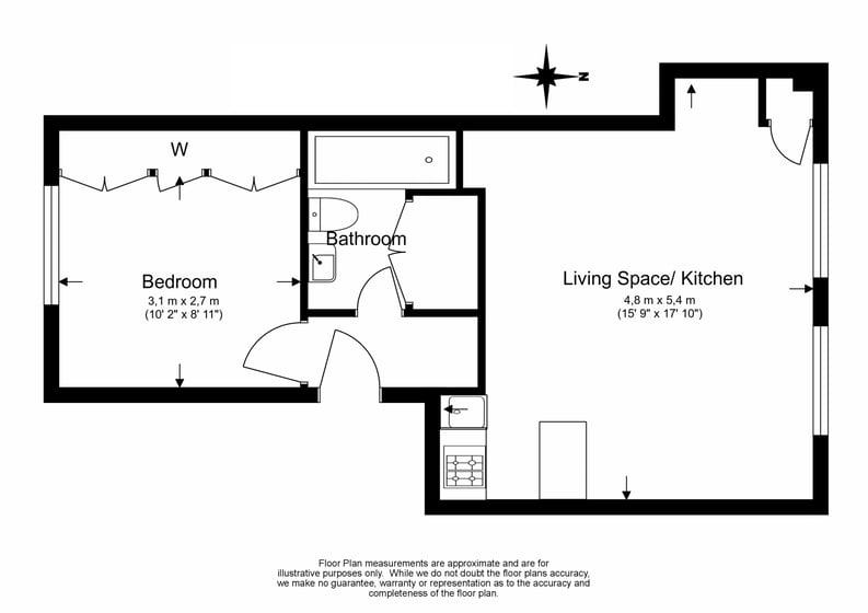1 bedroom(s) apartment to sale in Durham Terrace, Paddington, London-Floorplan