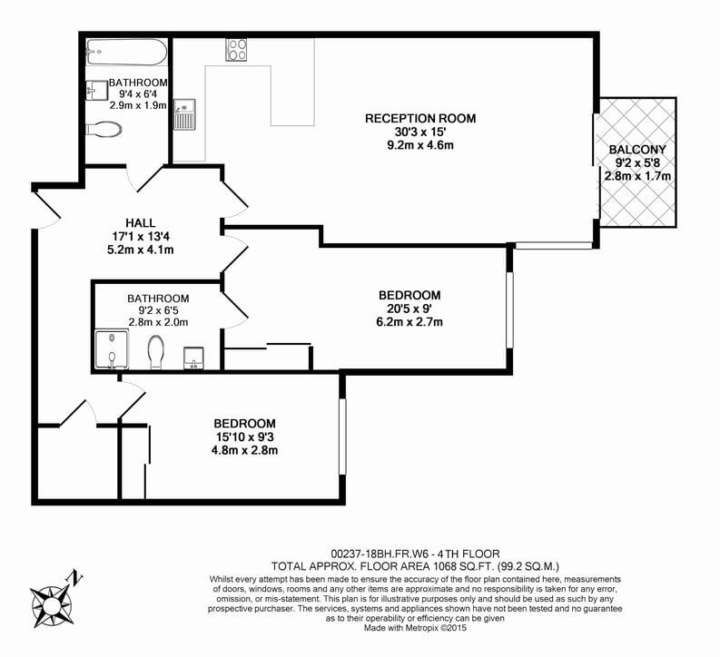 2 bedroom(s) apartment to sale in Brunswick House,, Fulham Reach, Hammersmith-Floorplan