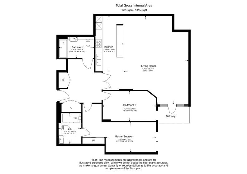 2 bedroom(s) apartment to sale in Rothschild House, Kew Bridge Road, Kew, Brentford-Floorplan