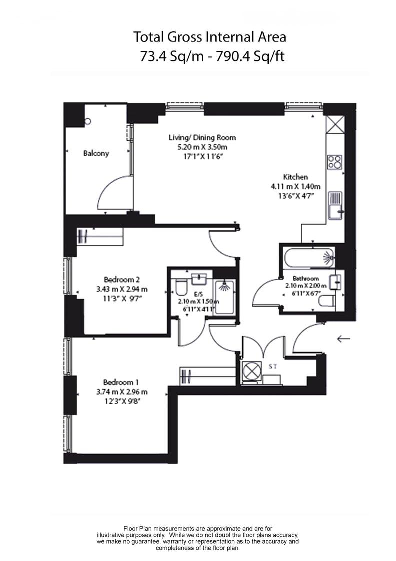 2 bedroom(s) apartment to sale in Soleil Apartments, Western Circus, Acton-Floorplan