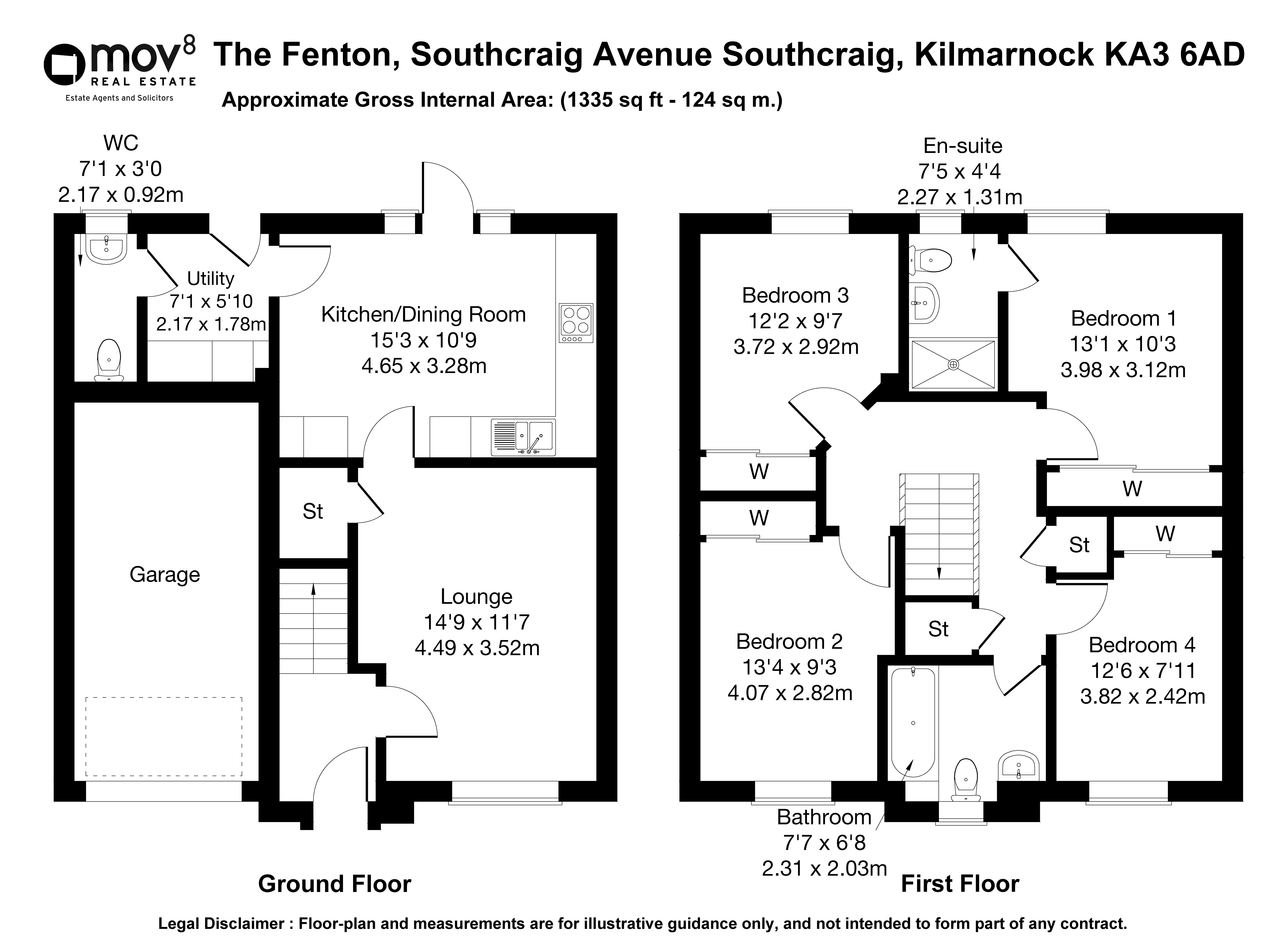 Floorplan 1 of The Fenton Southcraig Avenue, Southcraig, Kilmarnock, East Ayrshire, KA3 6AD