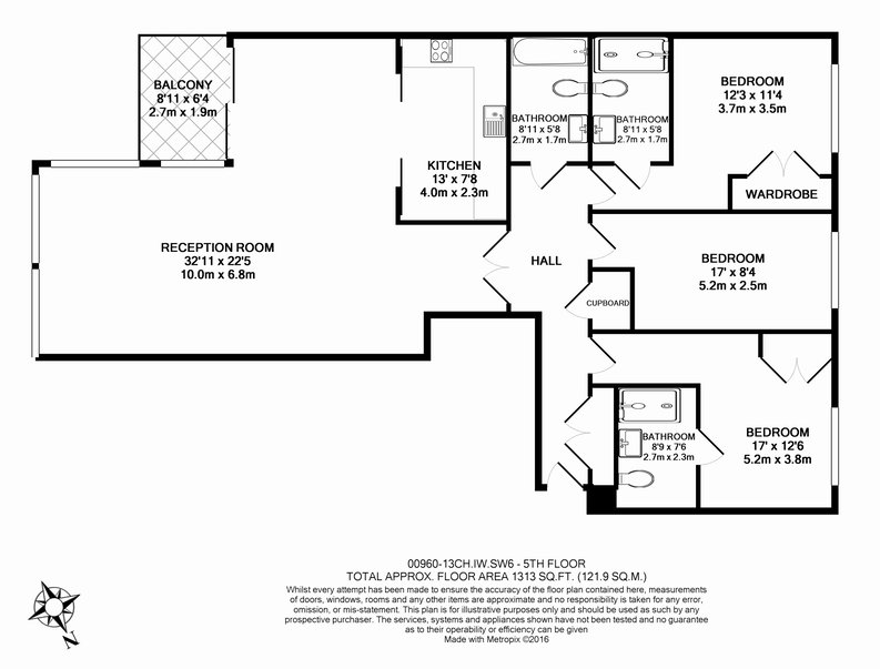 3 bedroom(s) apartment to sale in Courtyard House, Lensbury Avenue, Fulham-Floorplan
