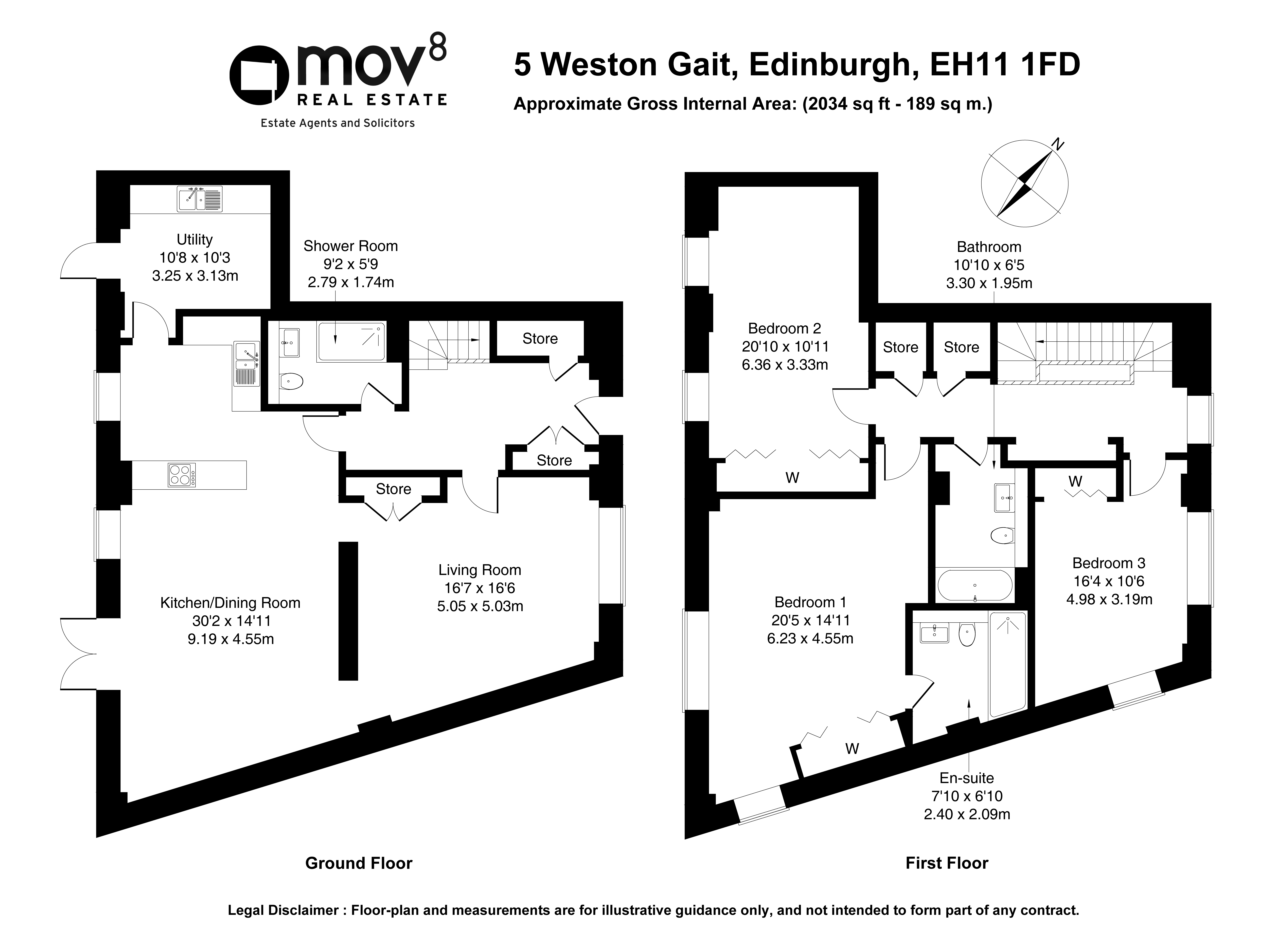 Floorplan 1 of 5 Weston Gait, Slateford, Edinburgh, EH11 1FD