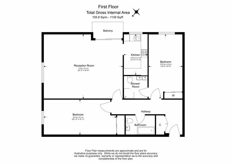 2 bedroom(s) apartment to sale in Imperial Court, Shepherds Hill, Highgate, London-Floorplan