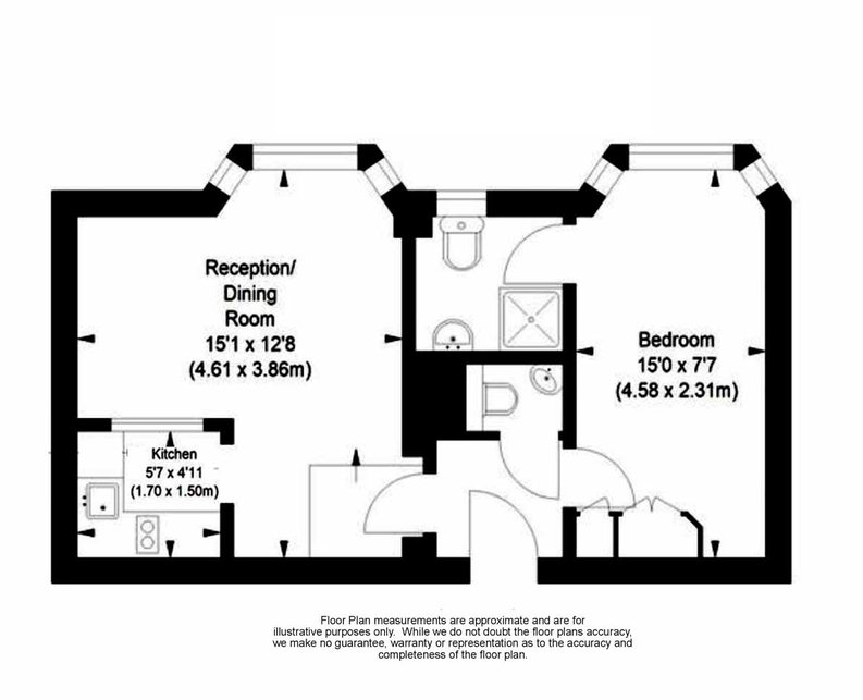 1 bedroom(s) apartment to sale in Chelsea Cloisters, Sloane Avenue, Chelsea-Floorplan