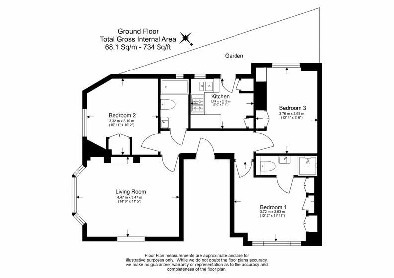 3 bedroom(s) apartment to sale in Walton Street, Kensington/Chelsea, London-Floorplan